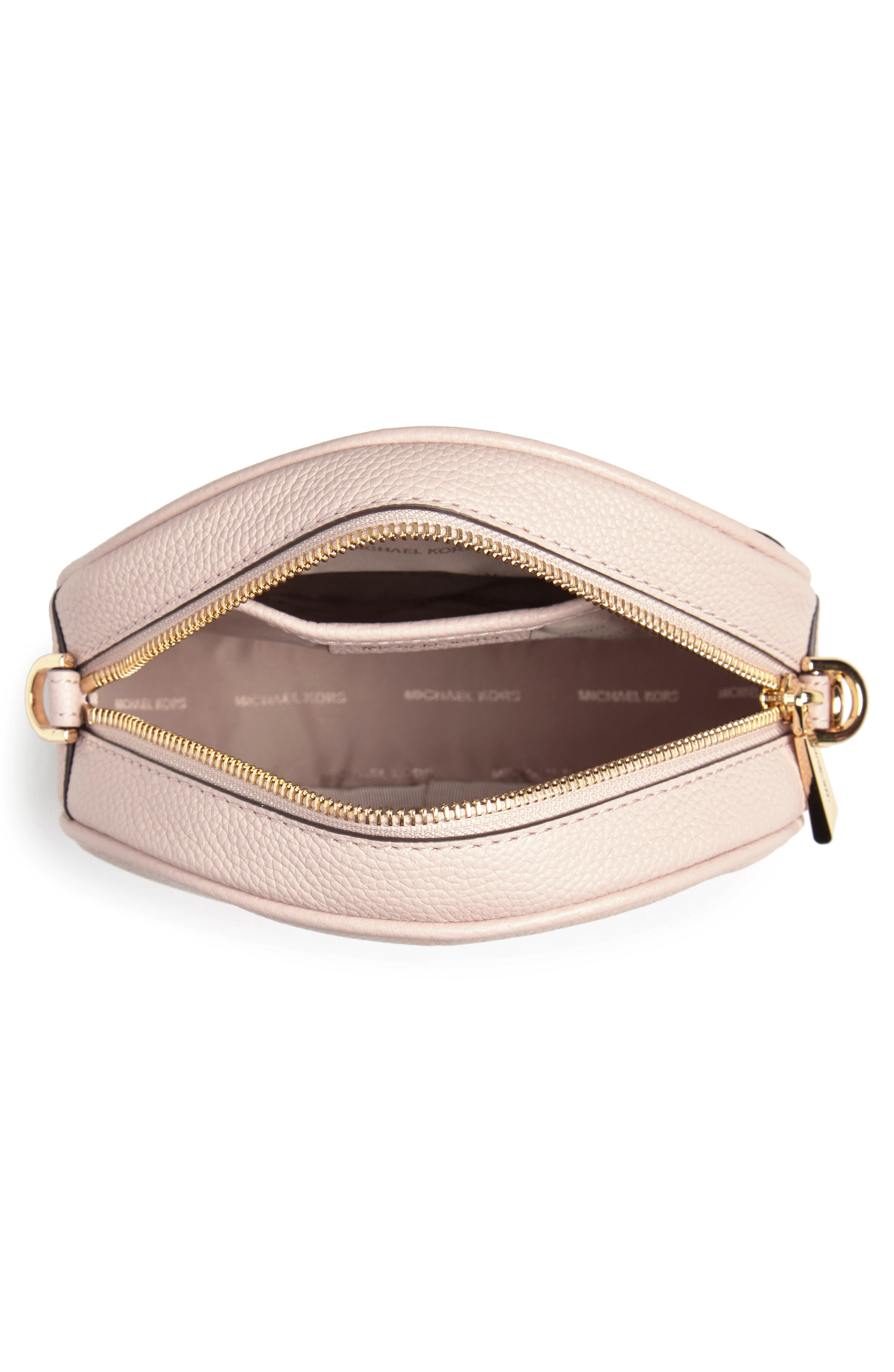 Medium Leather Canteen Bag,                             Alternate thumbnail 4, color,                             Soft Pink
