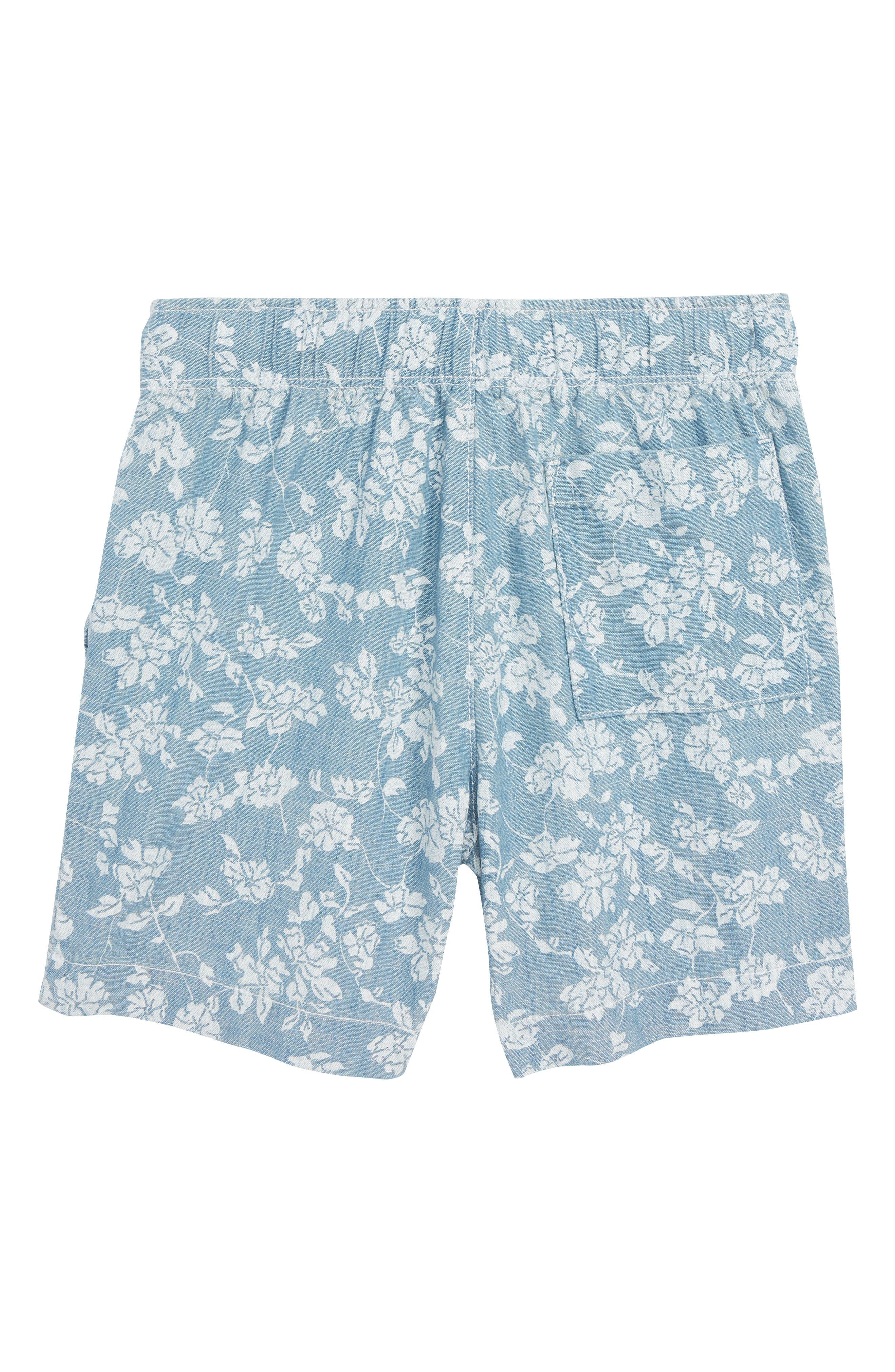 Floral Chambray Dock Shorts,                             Alternate thumbnail 2, color,                             Indigo