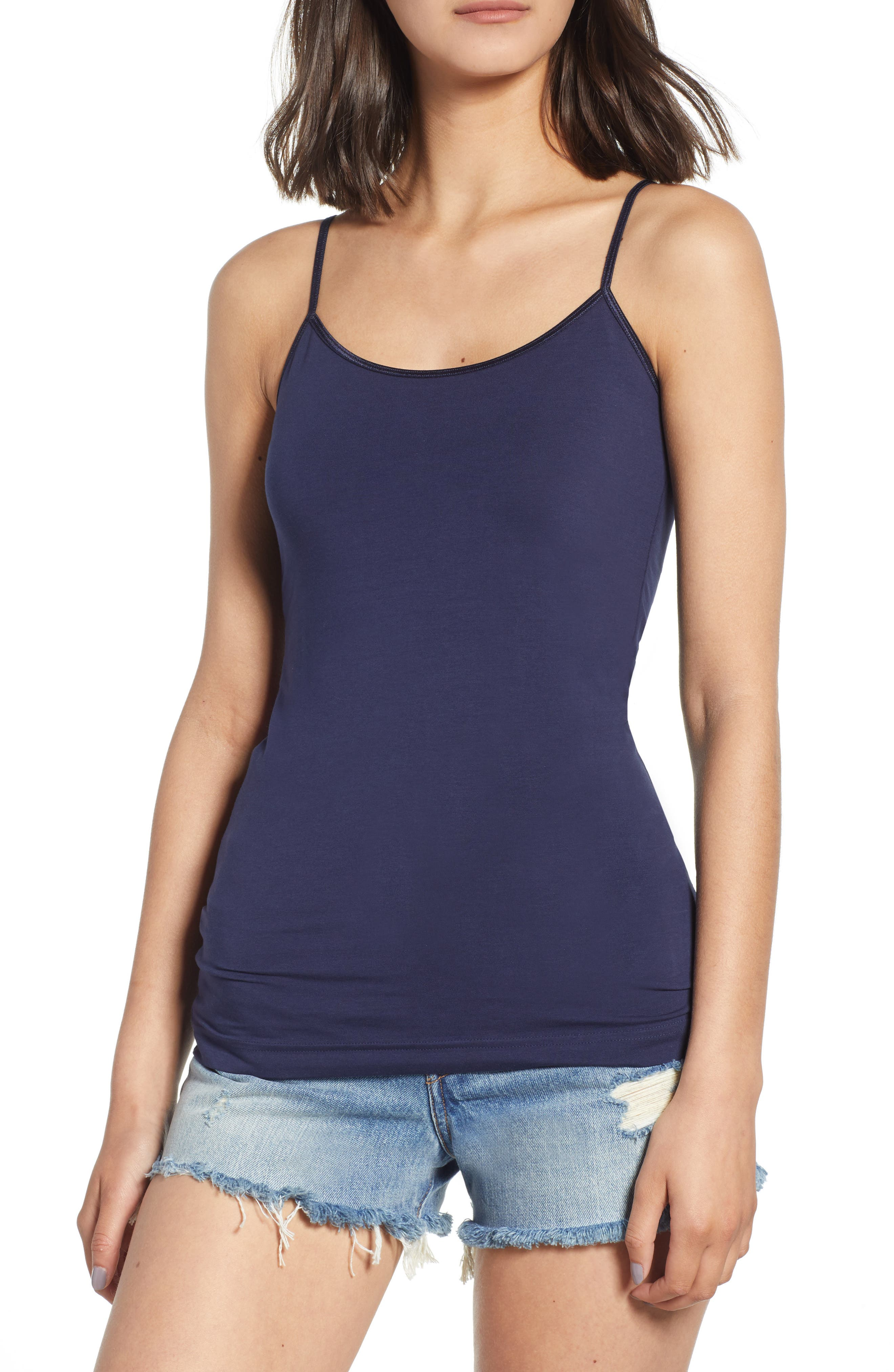 Stretch Camisole,                             Main thumbnail 1, color,                             Navy- Peacoat