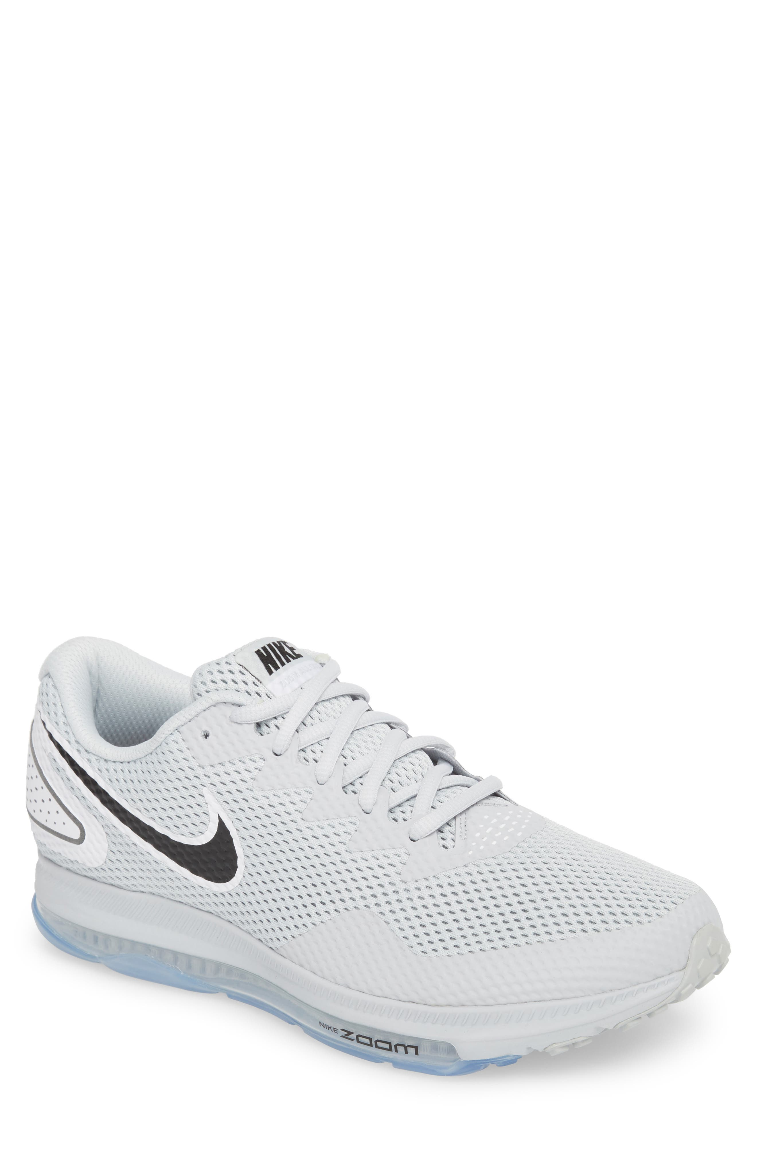 Zoom All Out Low 2 Running Shoe,                             Main thumbnail 1, color,                             Pure Platinum/ Black/ White