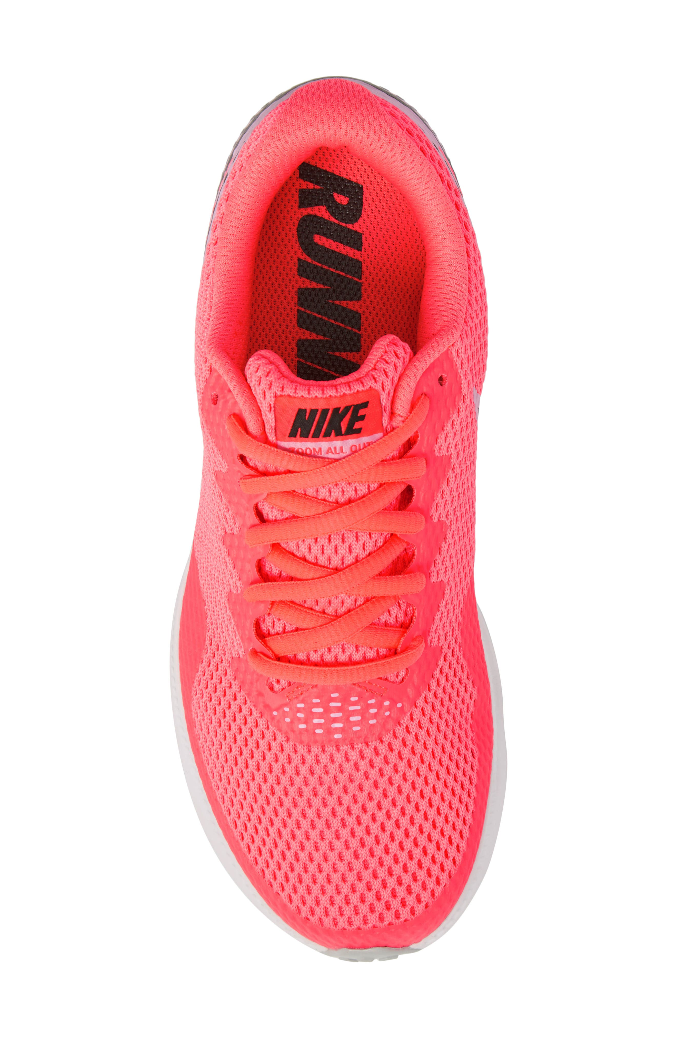 Zoom All Out Low 2 Running Shoe,                             Alternate thumbnail 4, color,                             Hot Punch/ Black