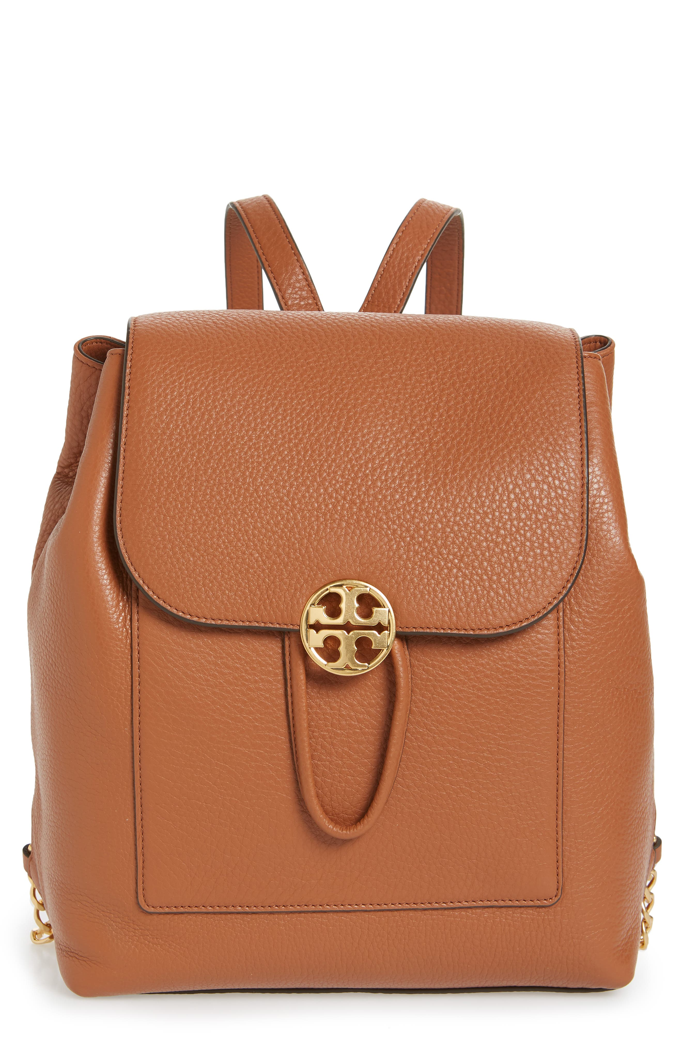 Chelsea Leather Backpack,                             Main thumbnail 1, color,                             Classic Tan