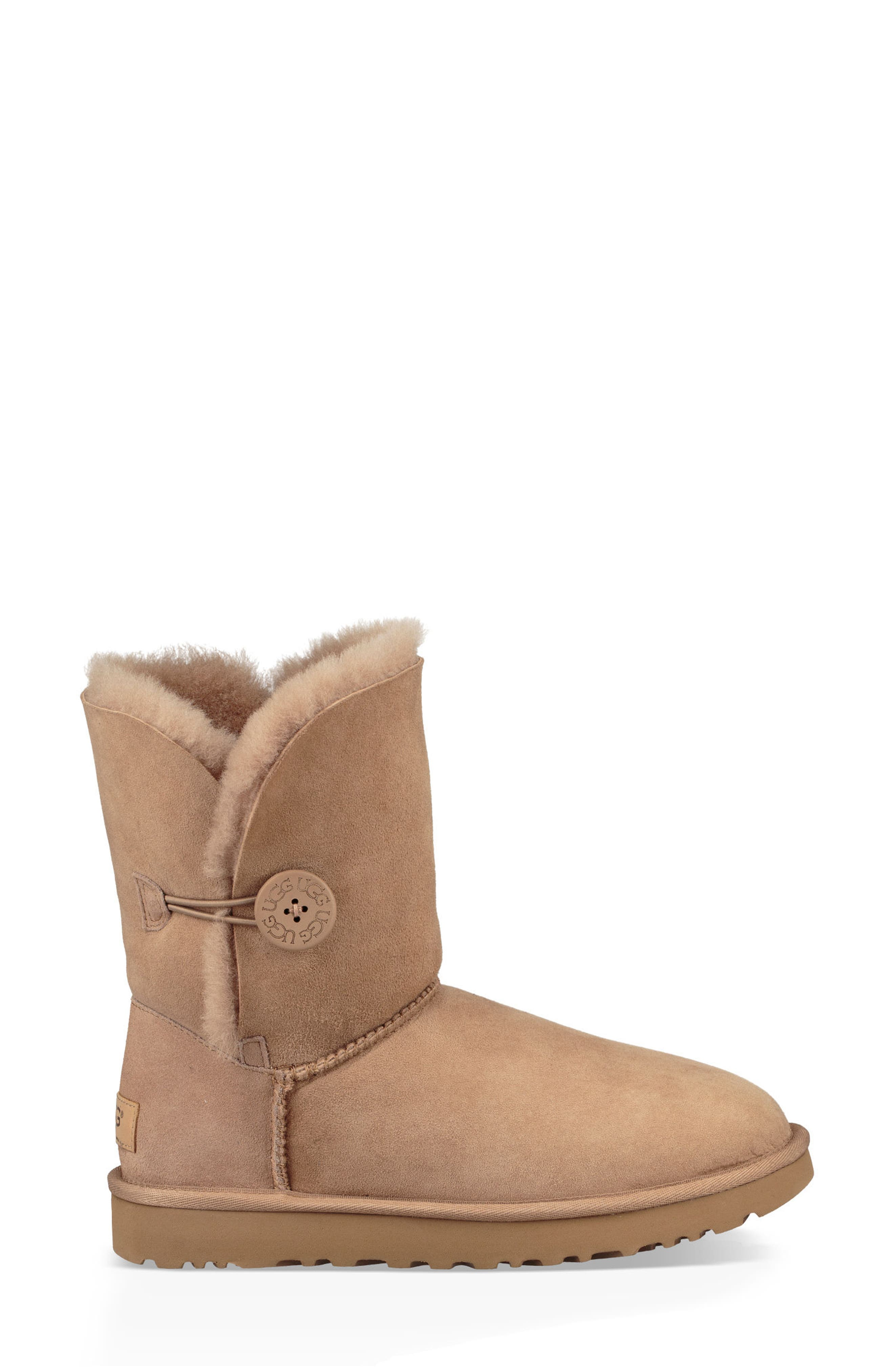 'Bailey Button II' Boot,                             Alternate thumbnail 3, color,                             Fawn Suede