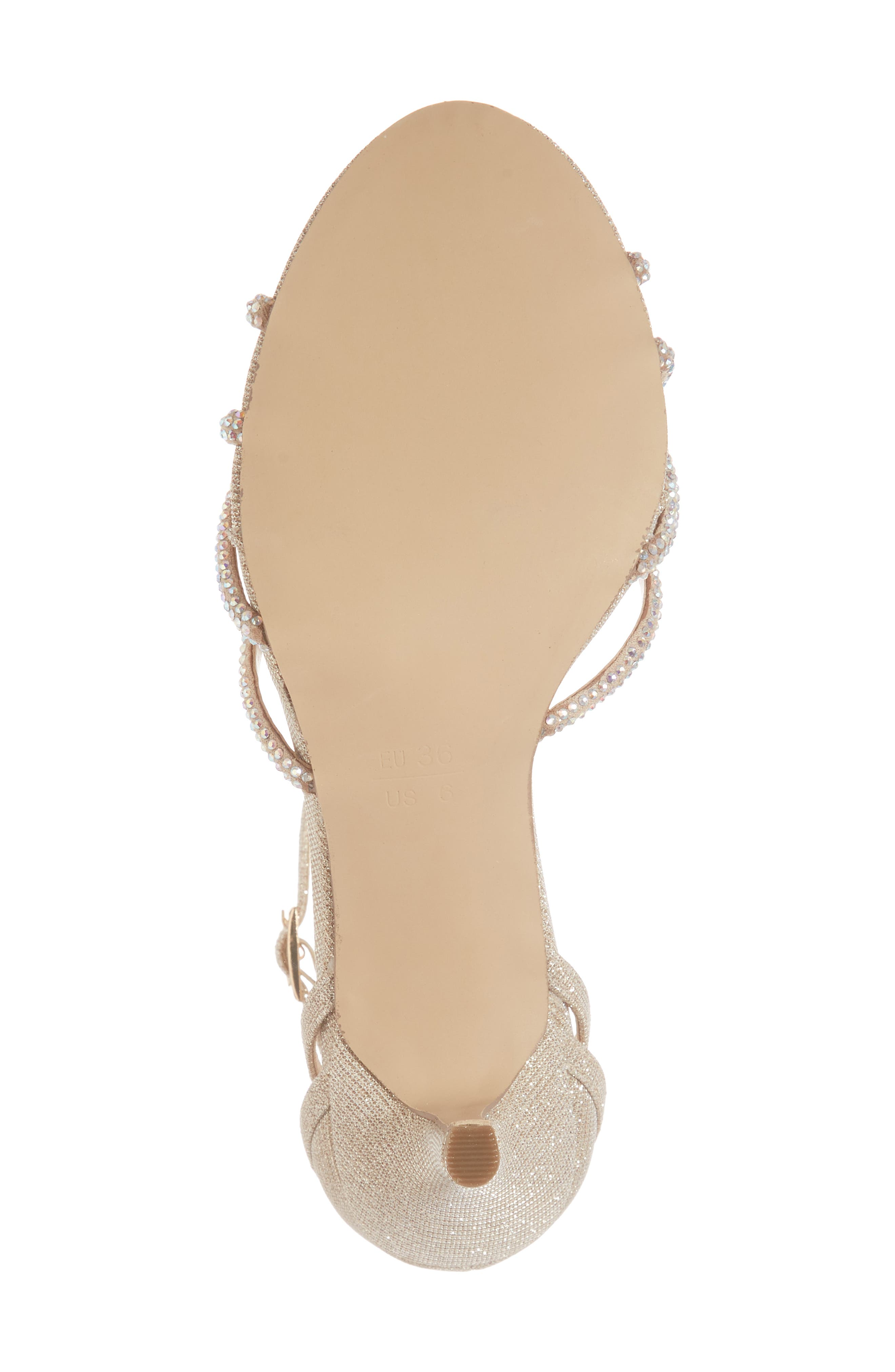 Majesty Sandal,                             Alternate thumbnail 6, color,                             Champagne Fabric