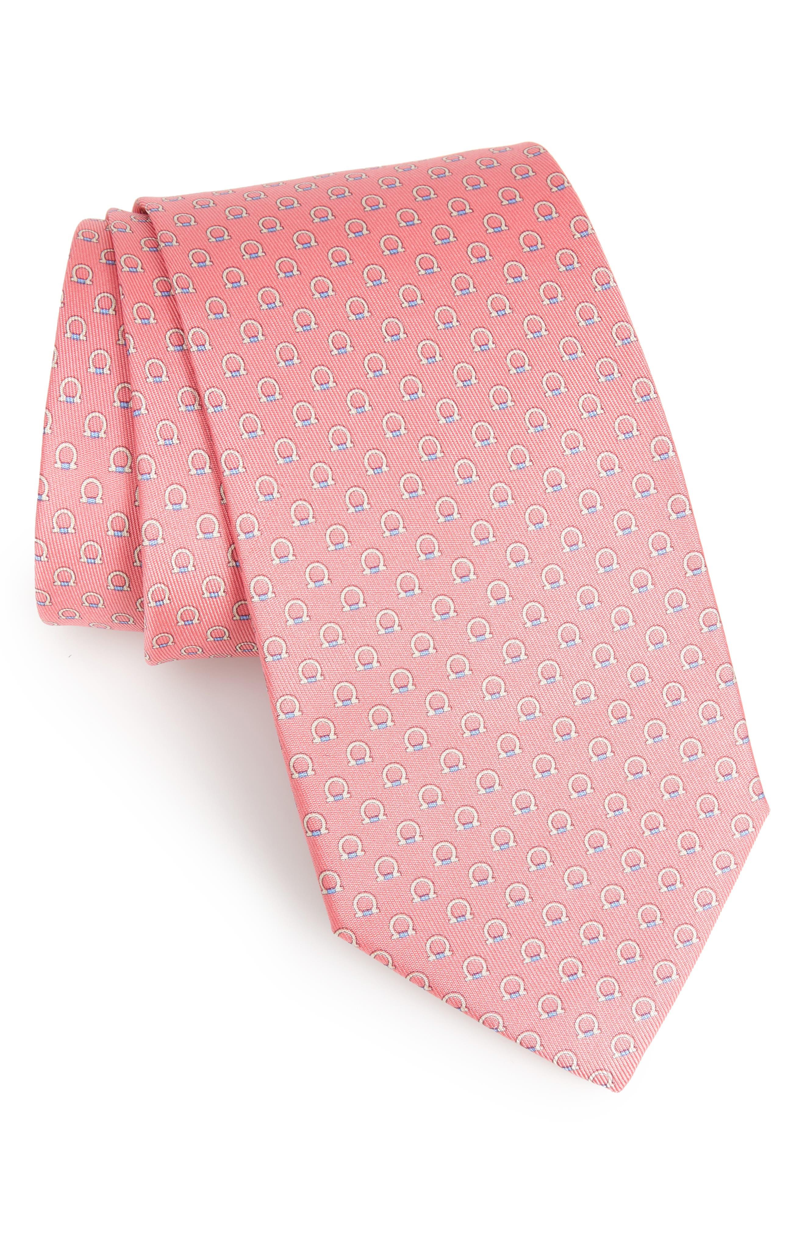 Feudo Print Silk Tie,                             Main thumbnail 1, color,                             Pink