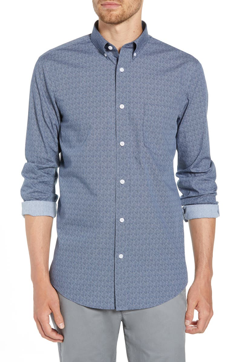 Regular Fit Print Sport Shirt