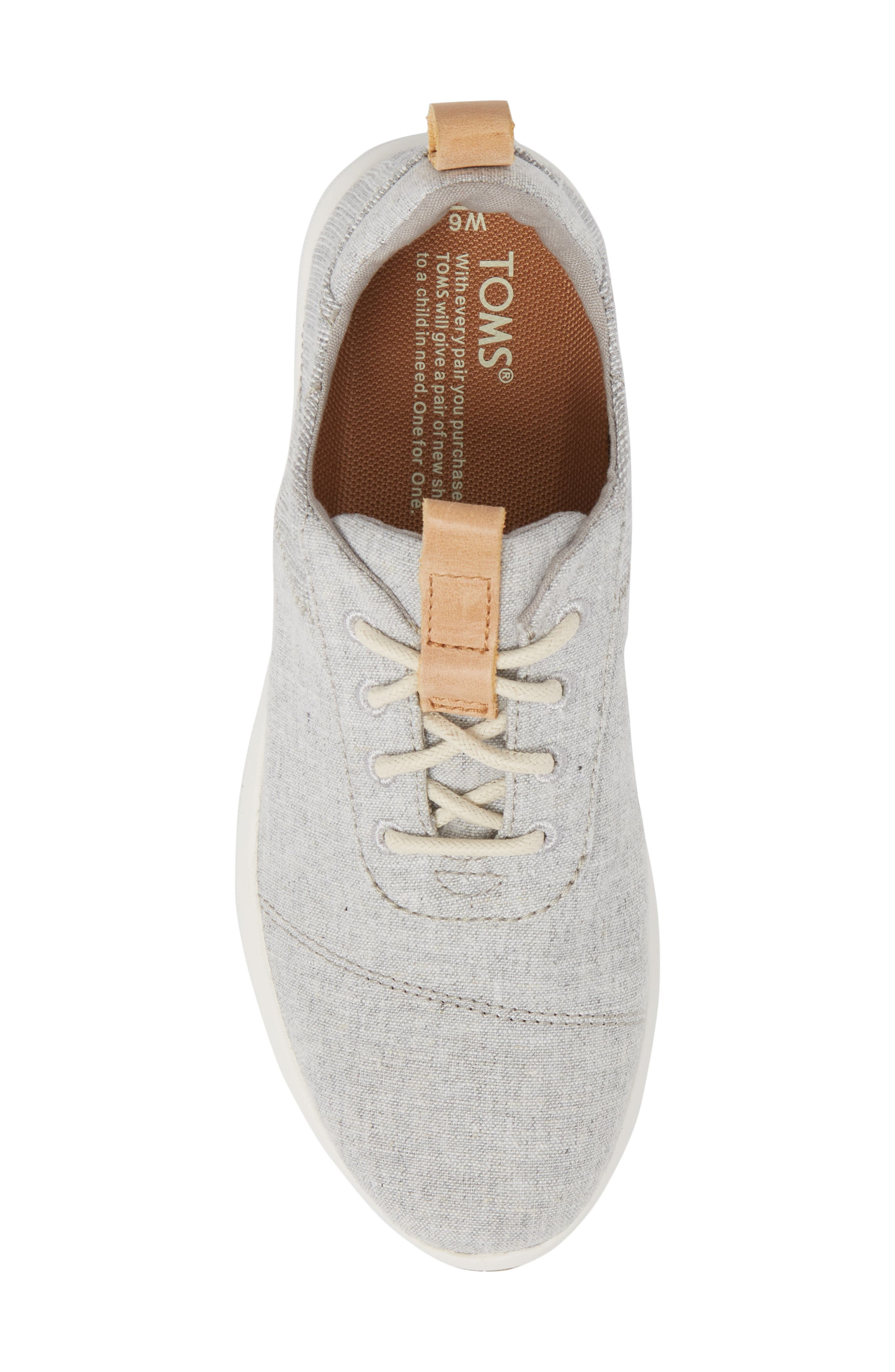 Cabrillo Sneaker,                             Alternate thumbnail 5, color,                             Drizzle Grey Chambray Mix