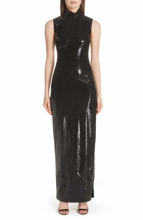 Galvan Turtleneck Sequin Gown