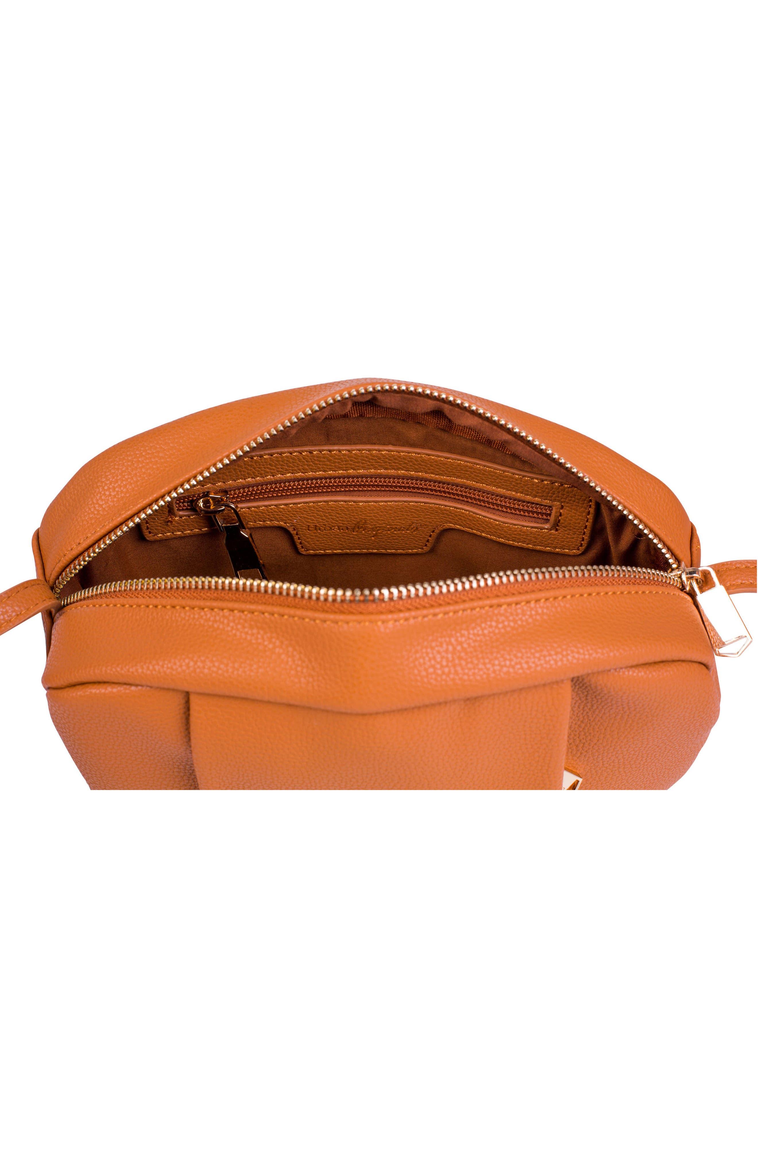 Story Teller Vegan Leather Crossbody Bag,                             Alternate thumbnail 2, color,                             Tan