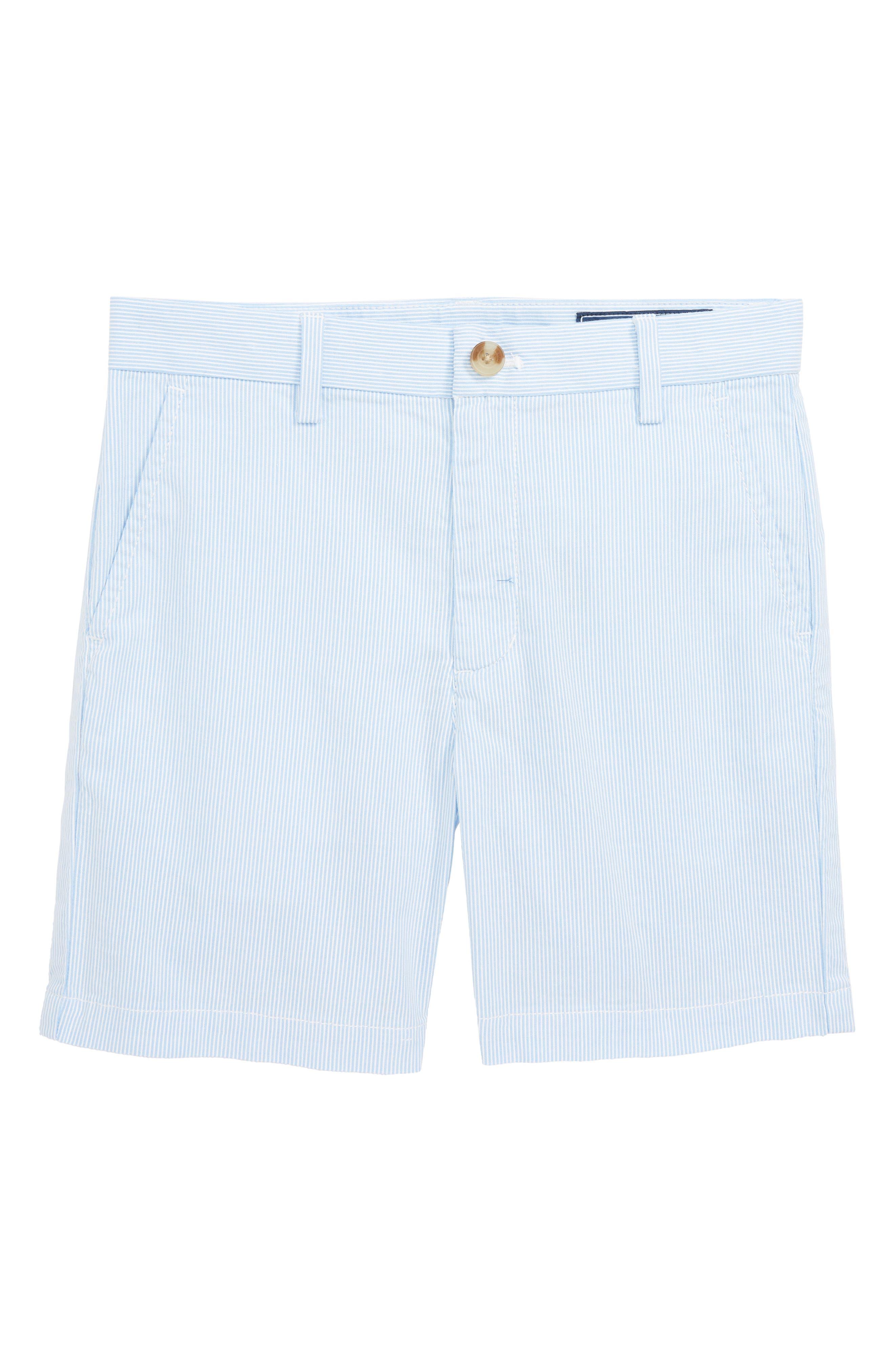 Pincord Stripe Breaker Shorts,                         Main,                         color, Ocean Breeze