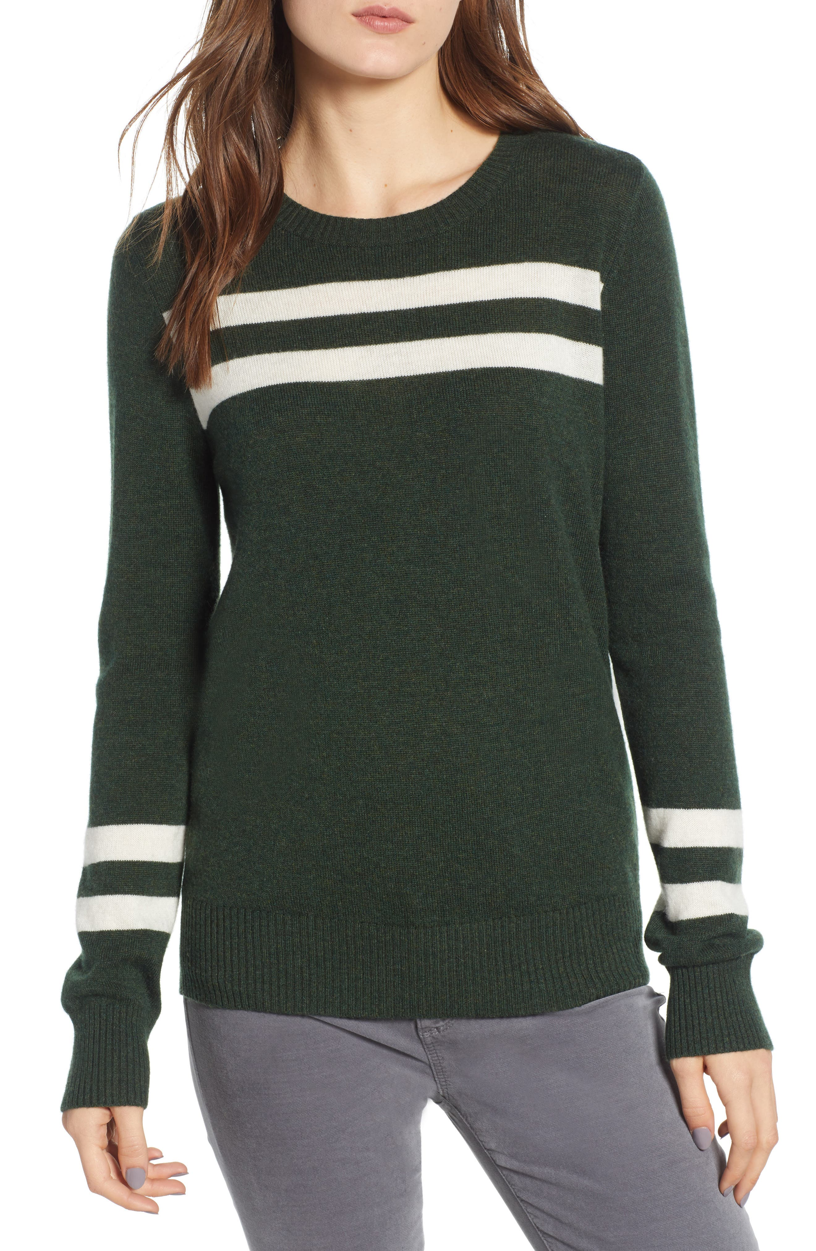 Marlowe Sweater,                             Main thumbnail 1, color,                             Eden/ White