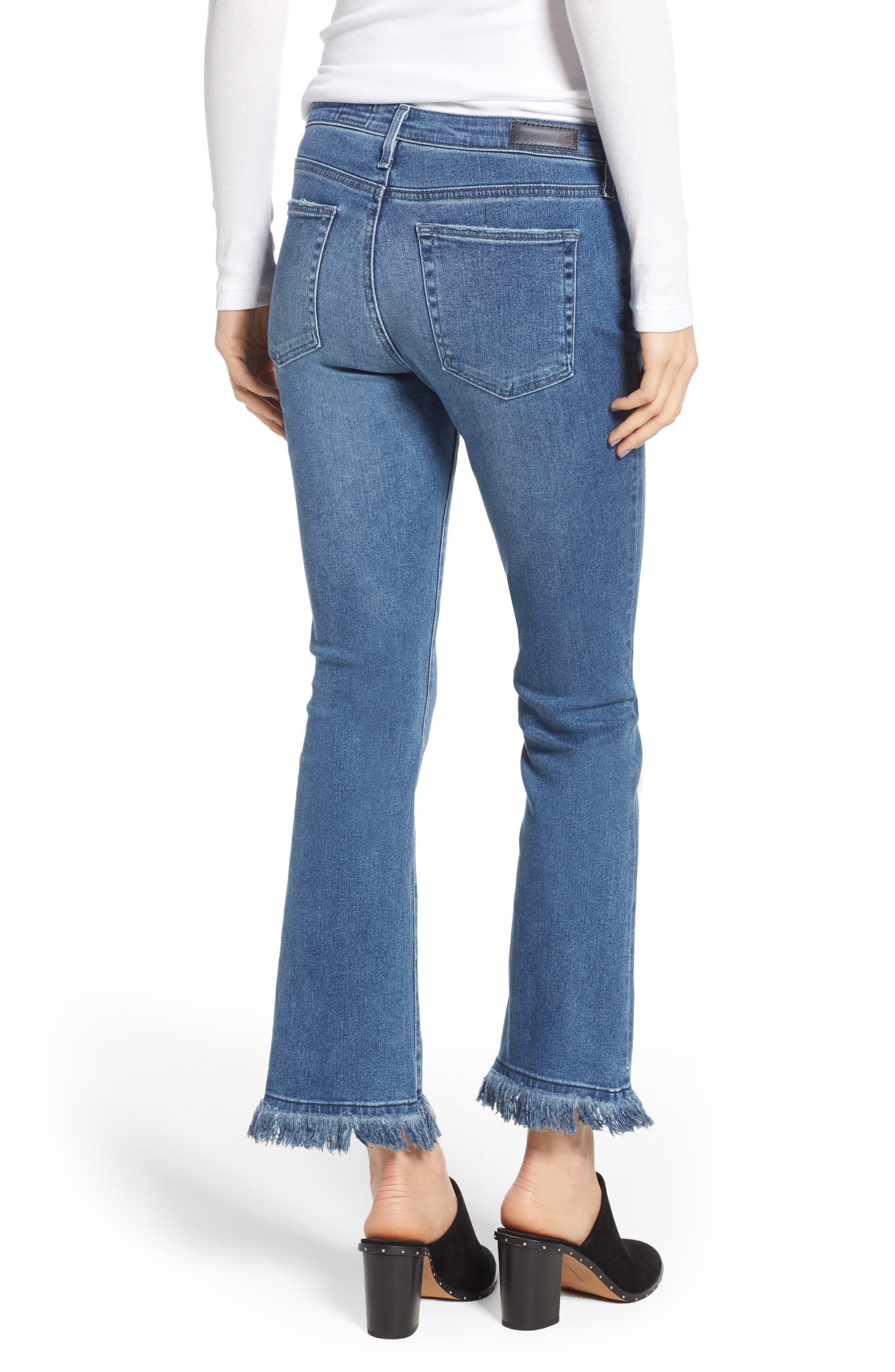 Jodi Crop Fringe Jeans,                             Alternate thumbnail 2, color,                             Pastoral Plains