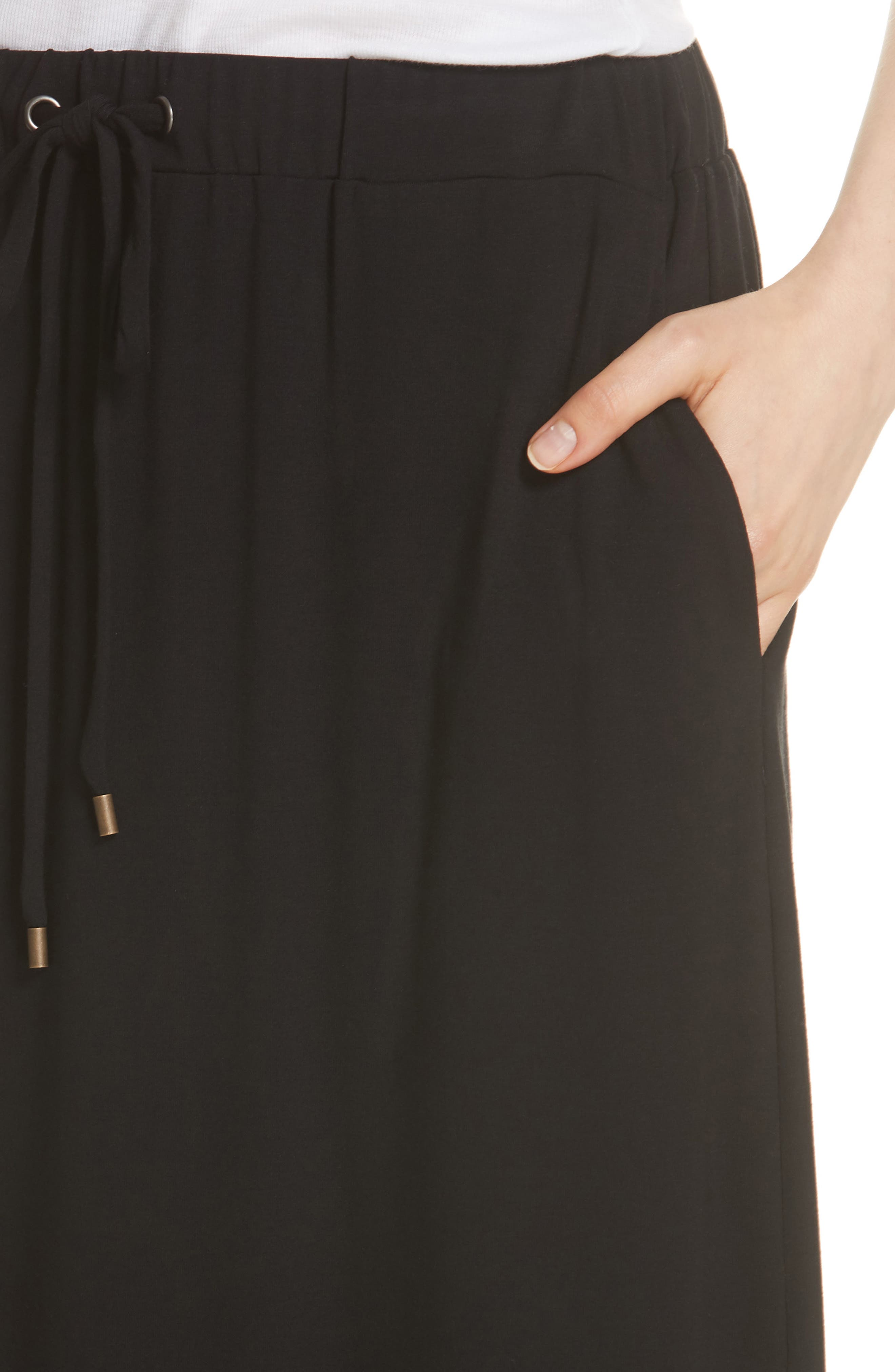 Drawstring Skirt,                             Alternate thumbnail 4, color,                             Black