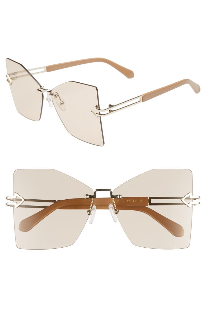 Karen Walker WANDERLUST 61MM BUTTERFLY SUNGLASSES - CARAMEL/ TAN