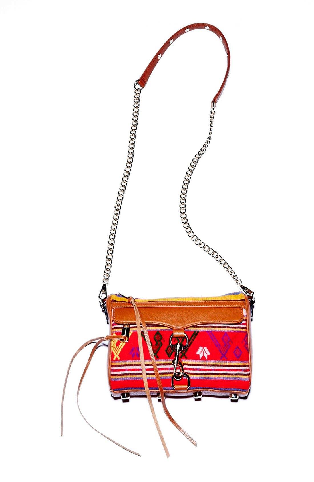 Piece & Co. and Rebecca Minkoff 'Mini MAC' Convertible Crossbody Bag,                             Alternate thumbnail 8, color,                             Orange Multi
