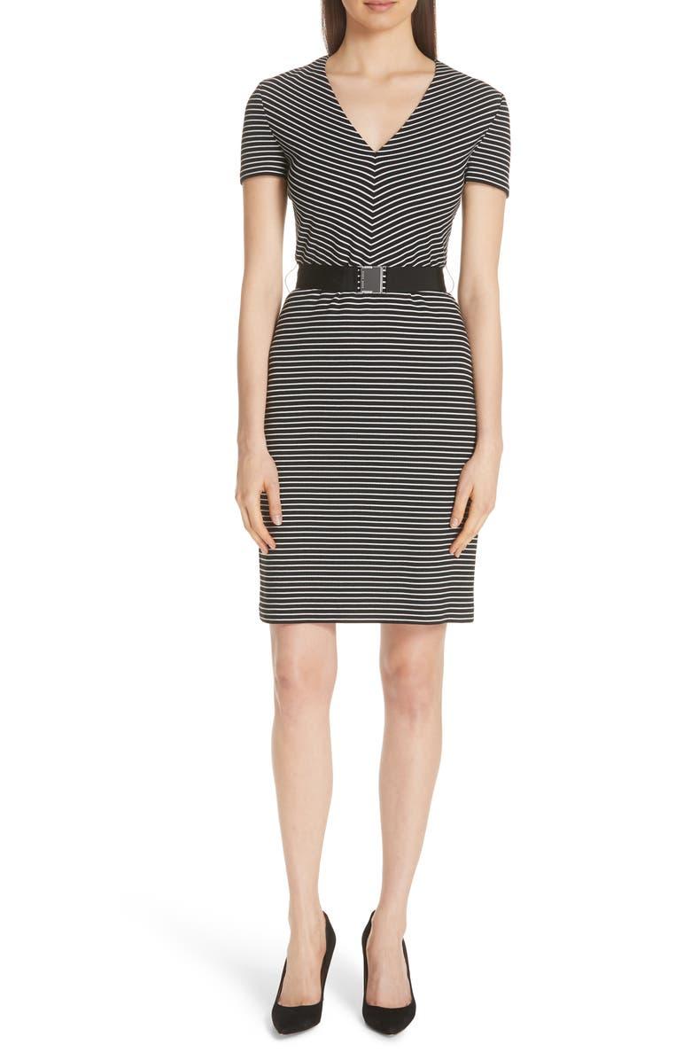 Hedra Stripe Belted Knit Dress