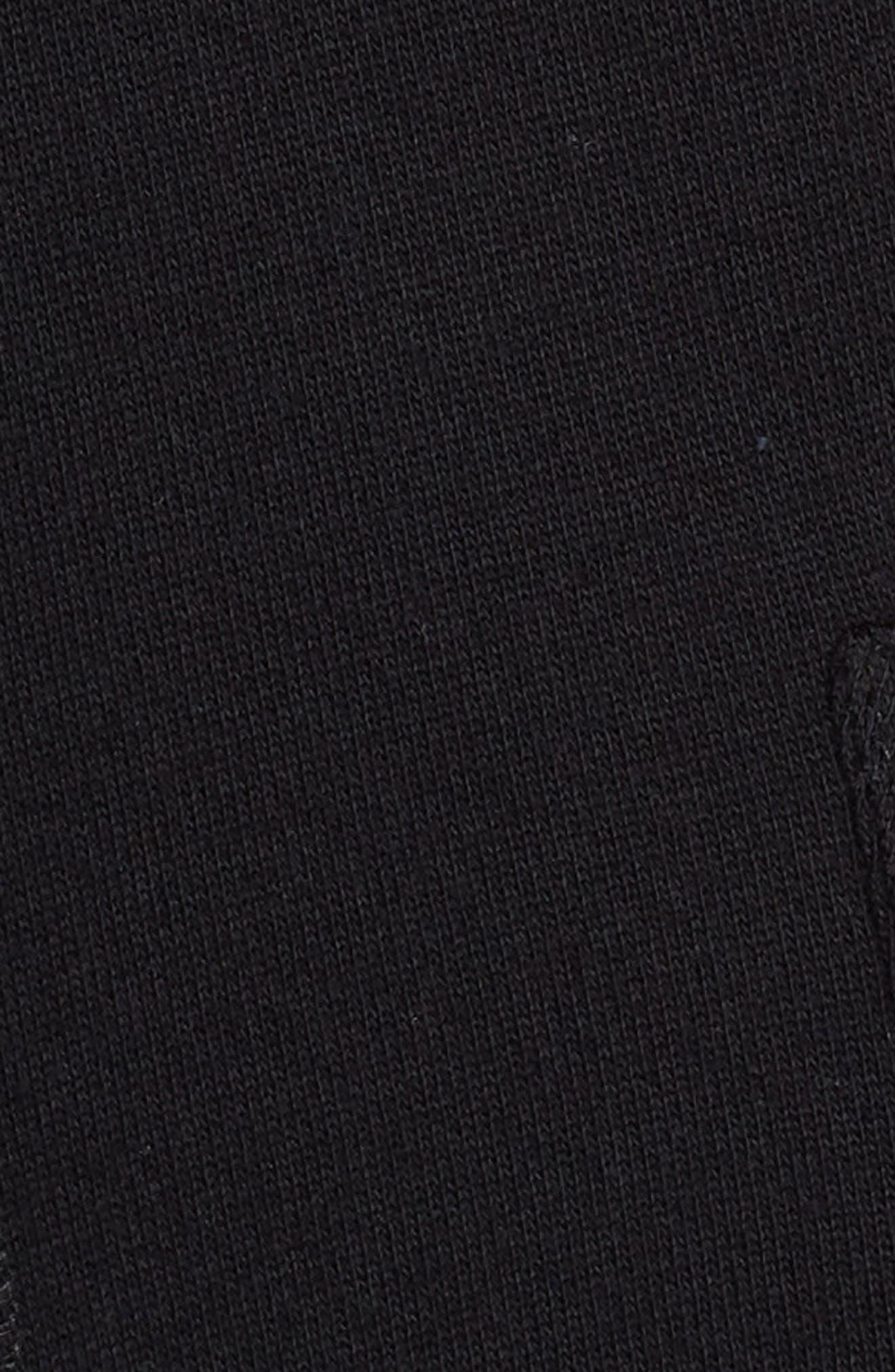 Knit Roll Sleeve Blazer,                             Alternate thumbnail 6, color,                             Black