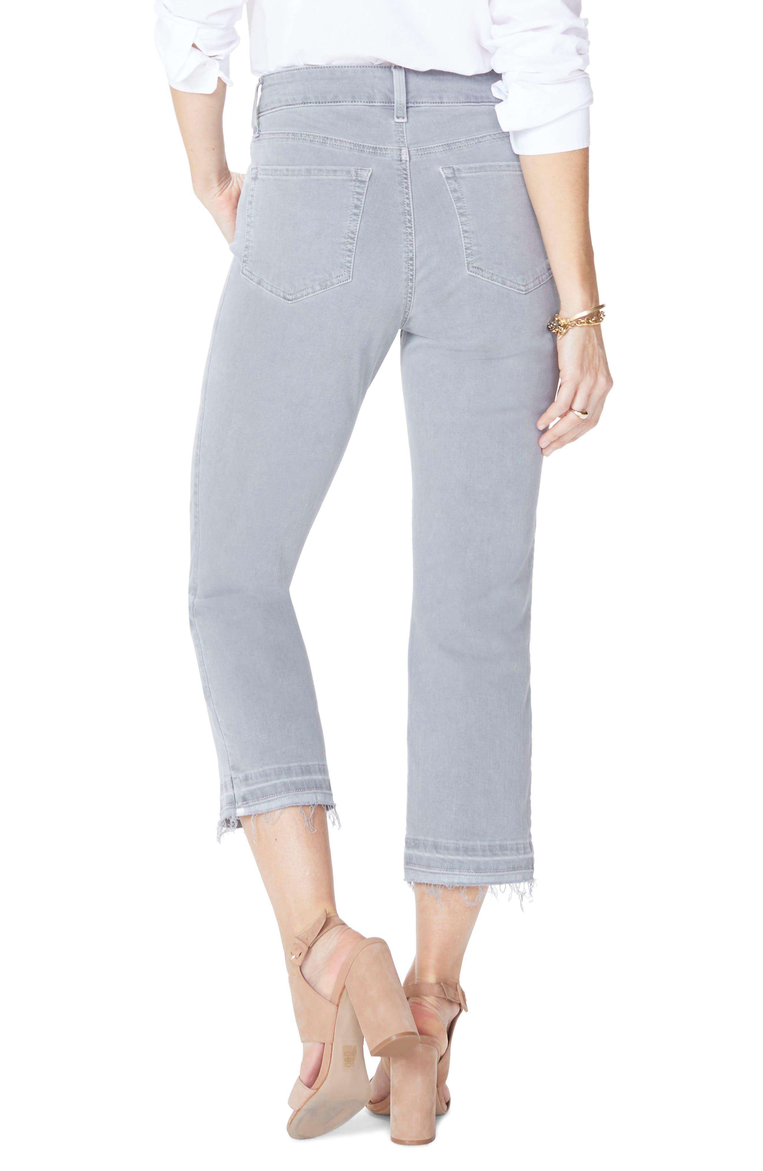 Release Hem Capri Skinny Jeans,                             Alternate thumbnail 4, color,                             Mineral Pigment