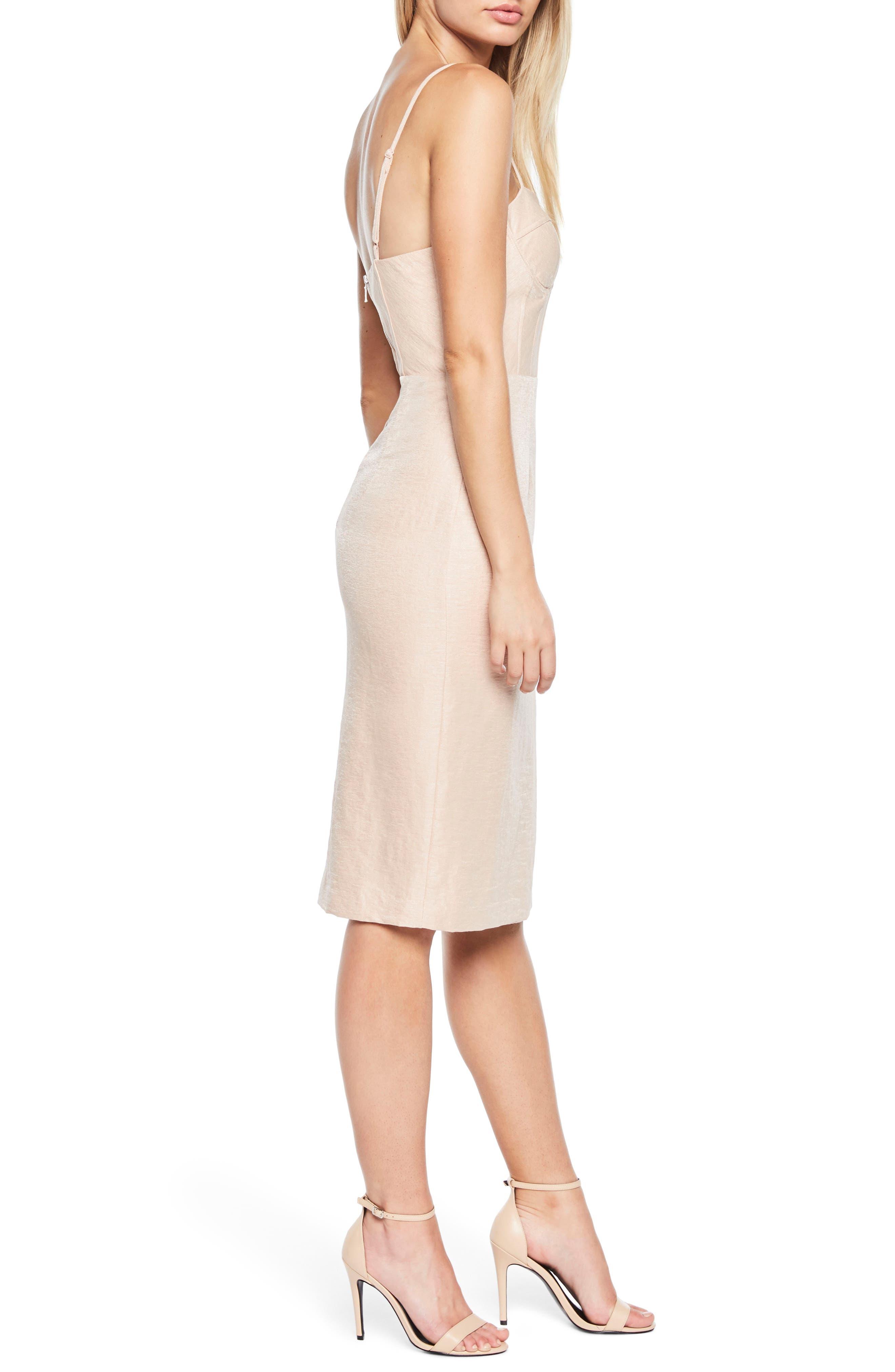 Esta Corset Dress,                             Alternate thumbnail 3, color,                             Prosecco
