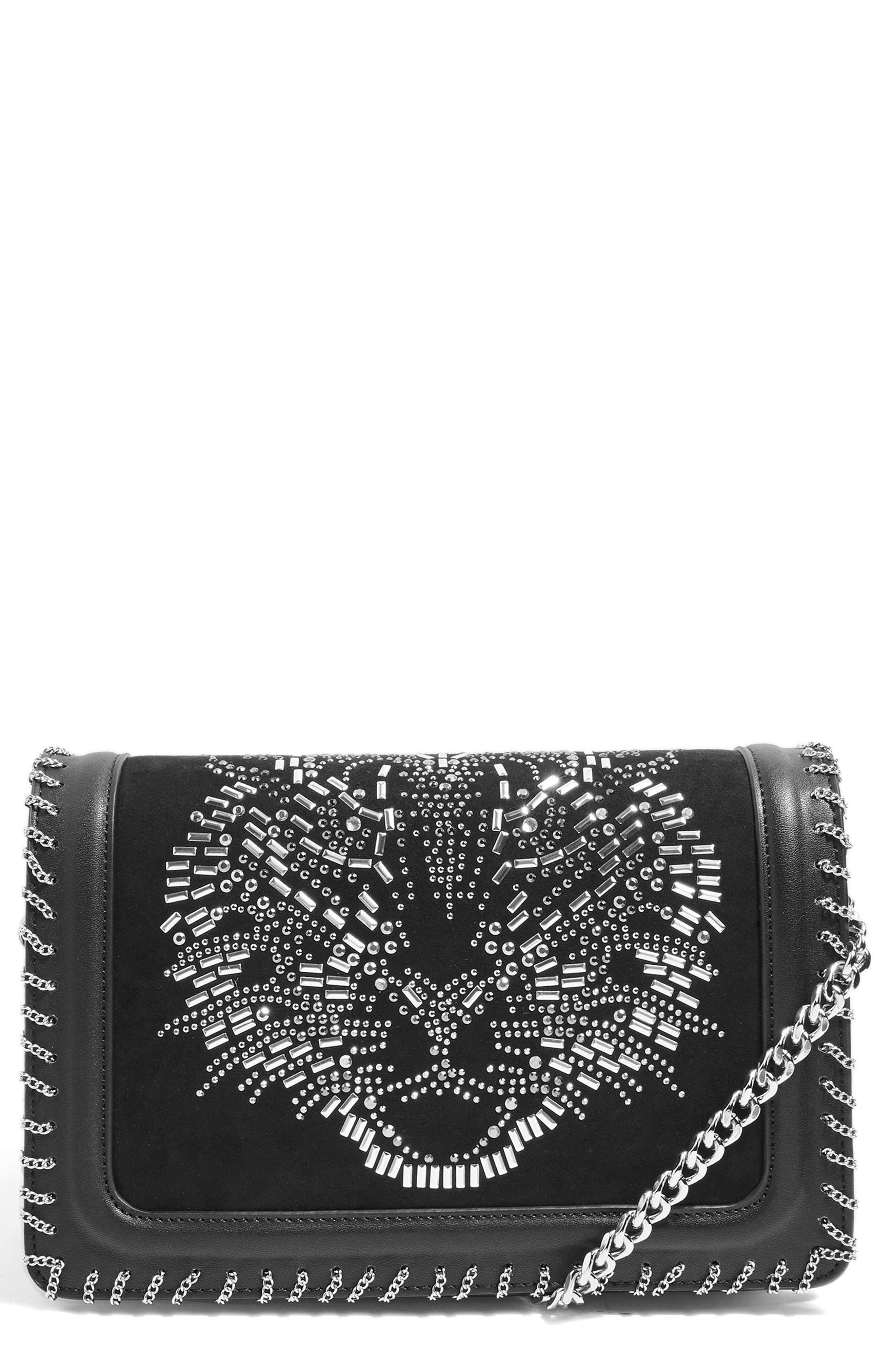 Tiger Stud Shoulder Handbag by Topshop