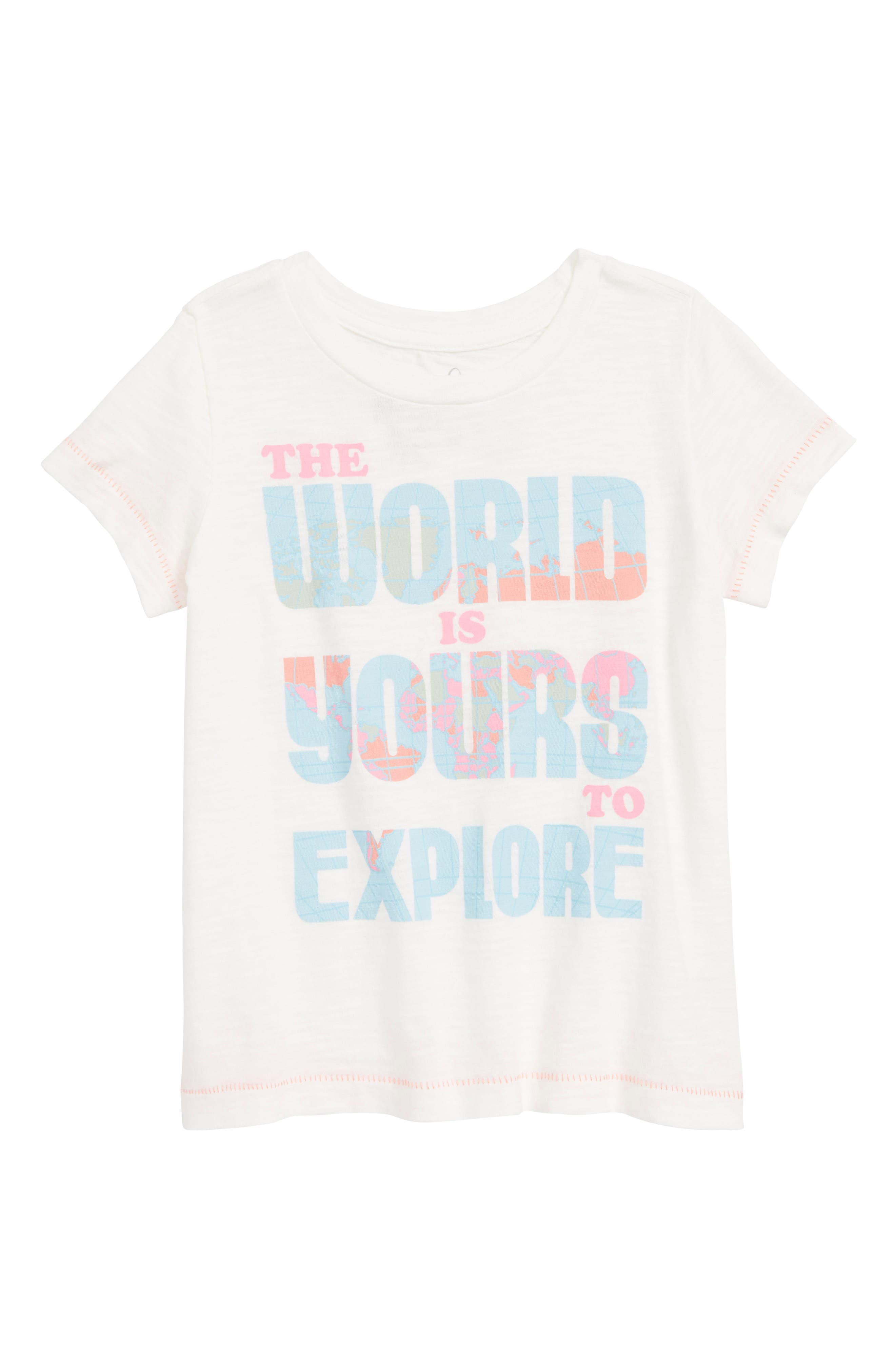 The World is Yours Graphic Tee,                             Main thumbnail 1, color,                             White