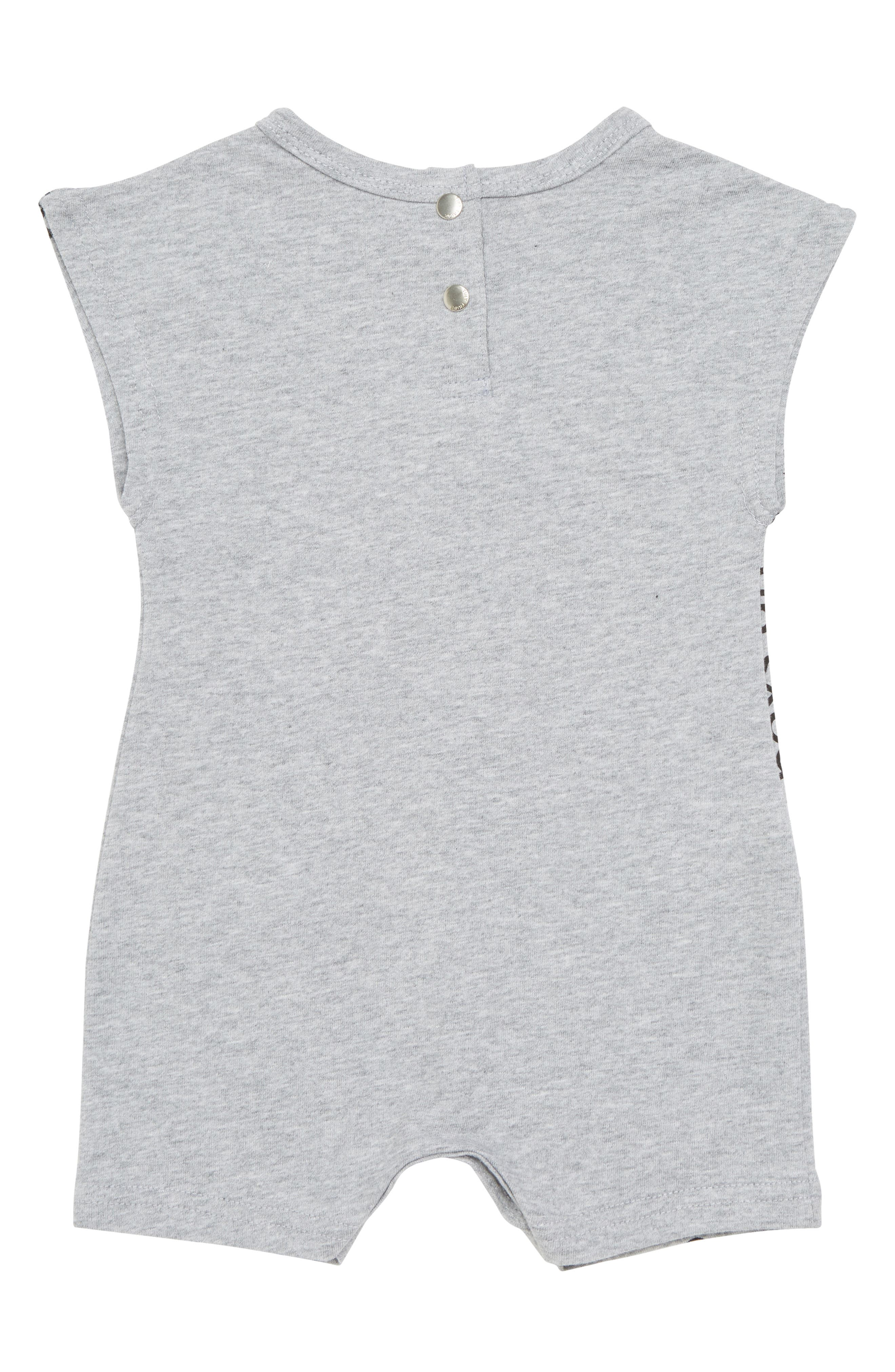 Boys are Awesome Romper,                             Alternate thumbnail 2, color,                             Grey