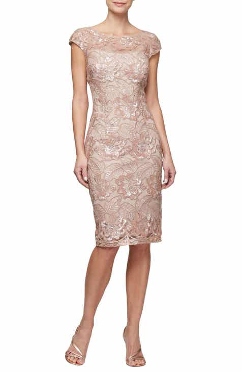 071e05becb2 Alex Evenings Sequin Lace Cocktail Dress (Regular   Petite)