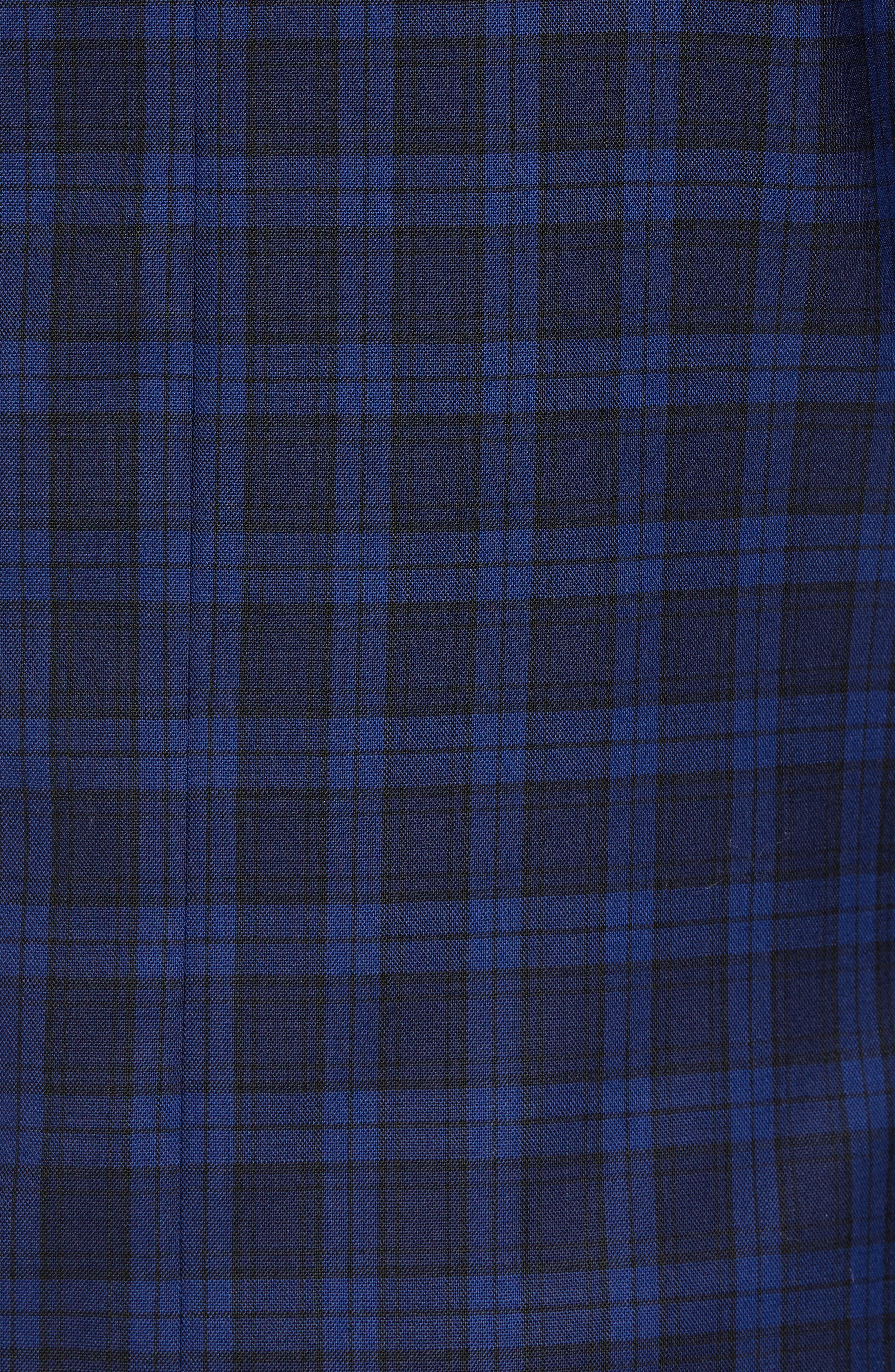Traditional Fit Plaid Wool Sport Coat,                             Alternate thumbnail 3, color,                             Blue