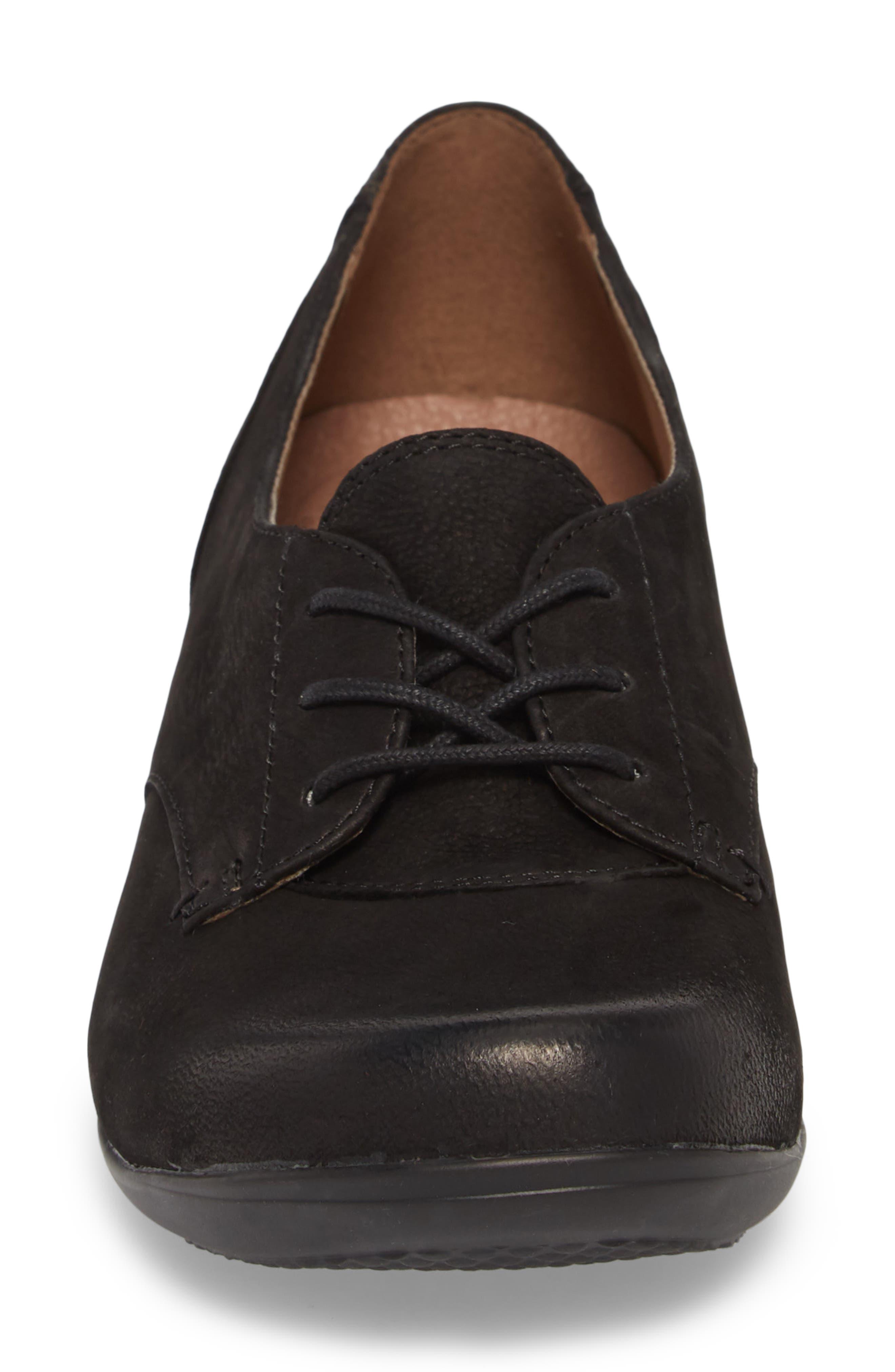 Fallon Derby,                             Alternate thumbnail 4, color,                             Black Burnished Nubuck Leather