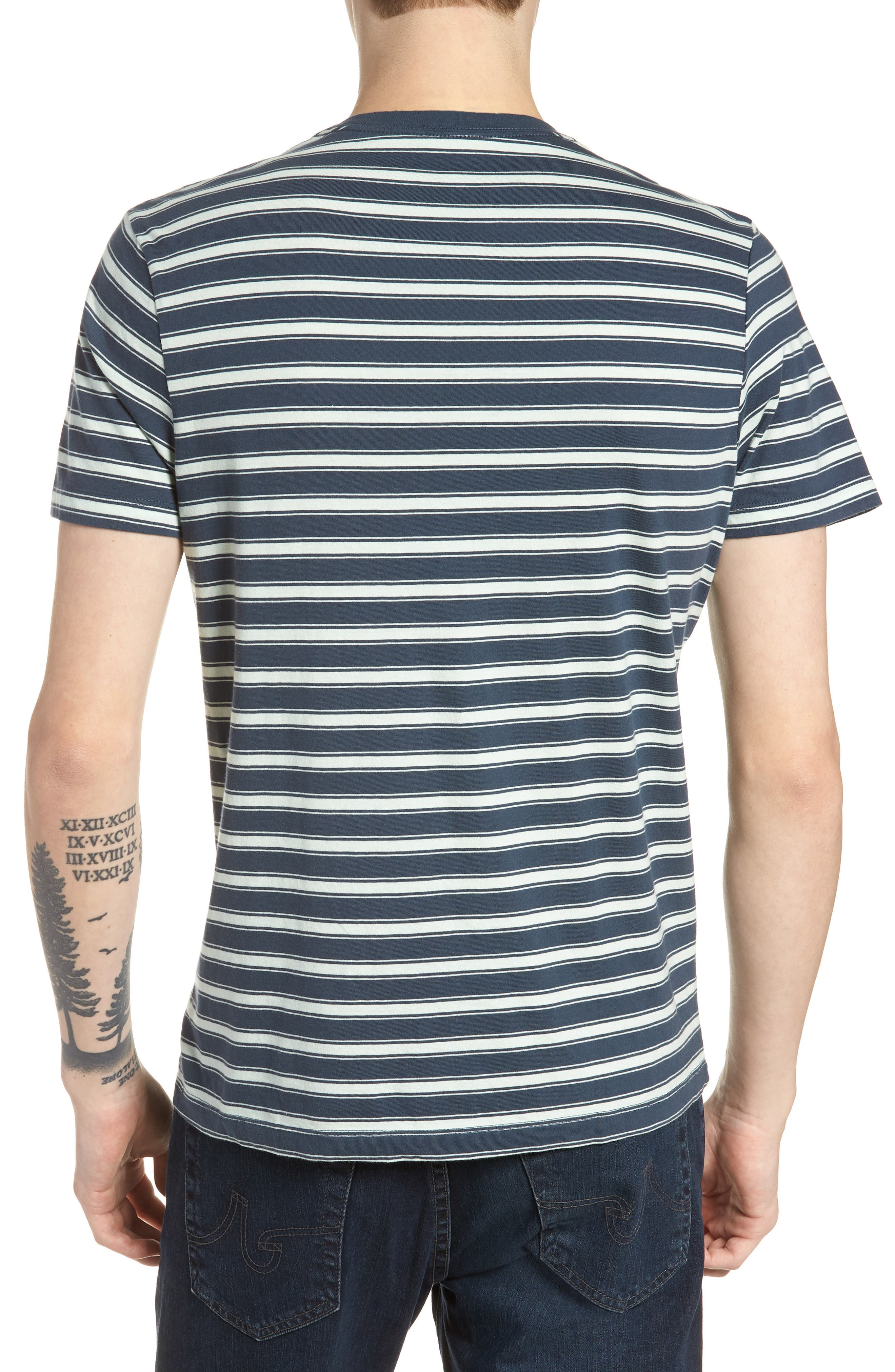 Mercantile Regular Fit Stripe T-Shirt,                             Alternate thumbnail 2, color,                             Muted Midnight