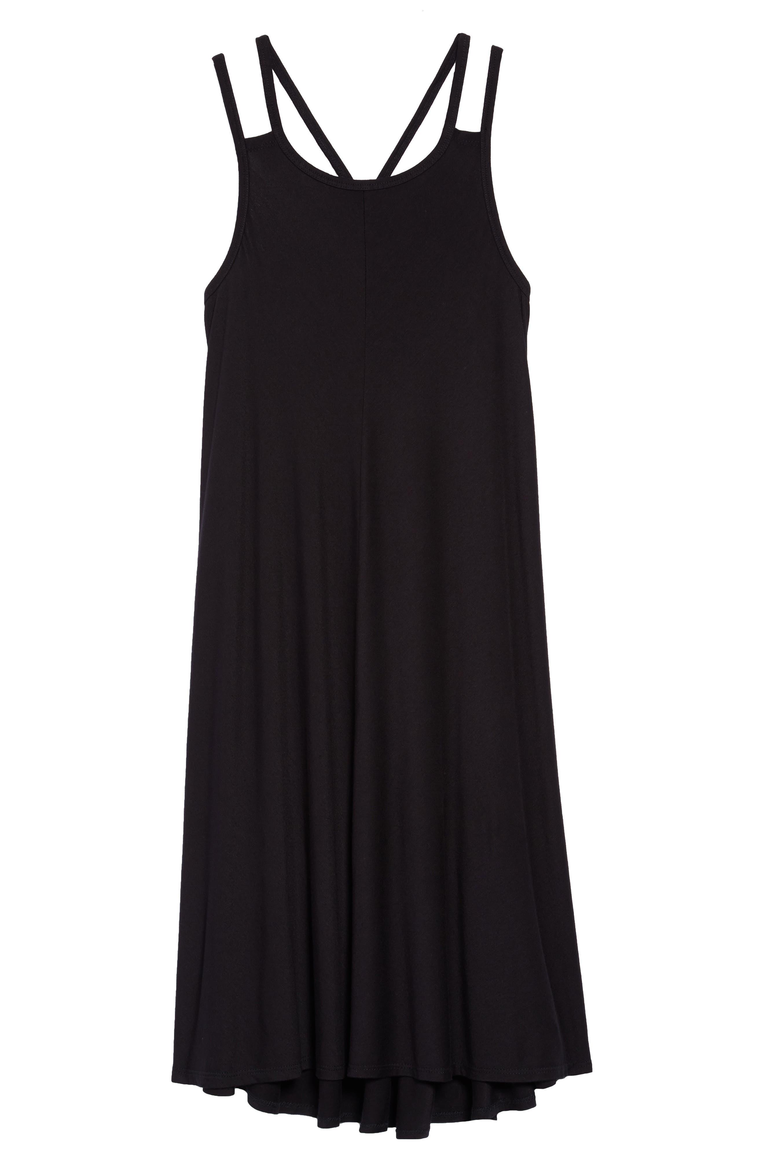 Strappy Dress,                             Main thumbnail 1, color,                             Black