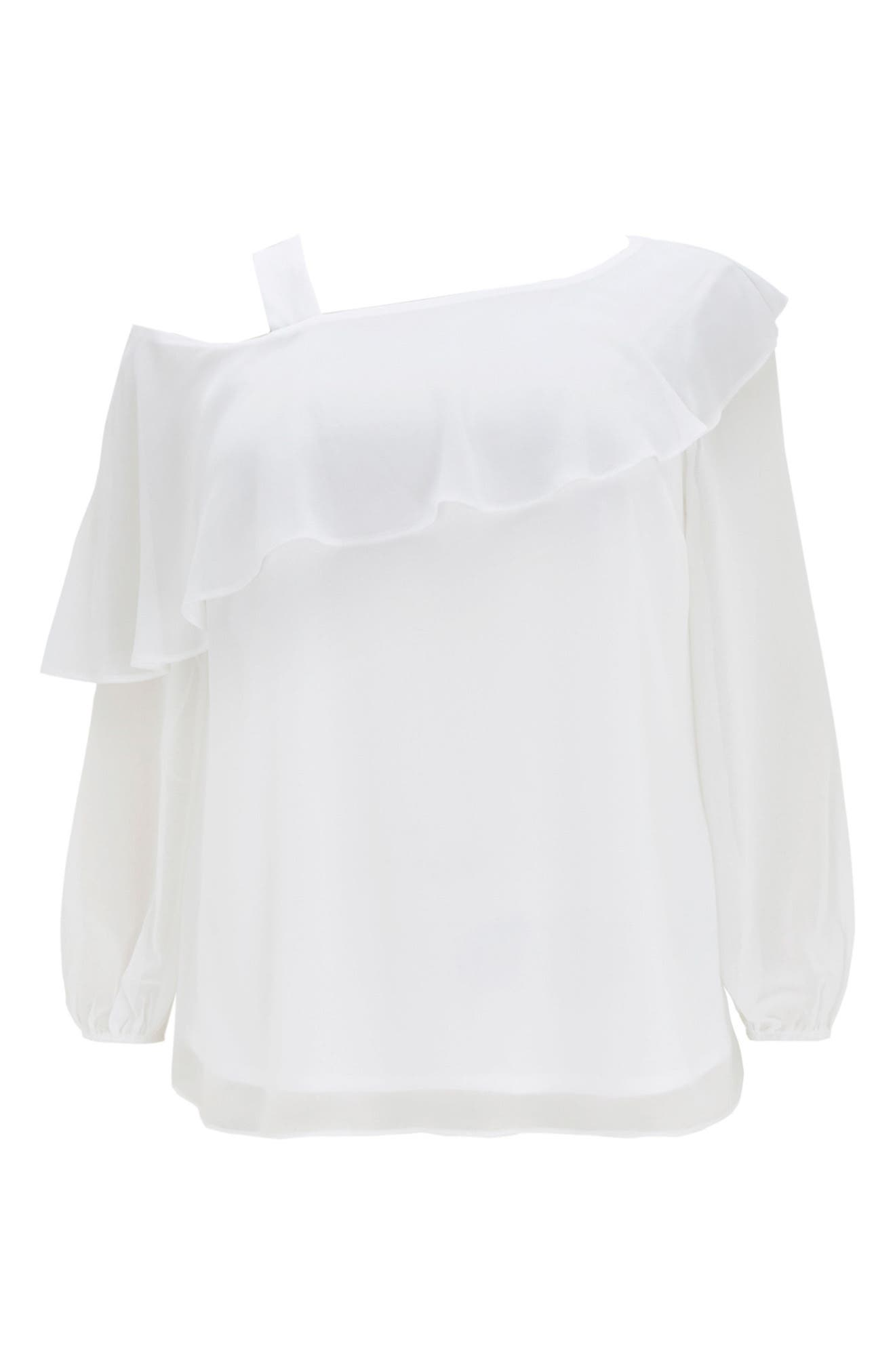 One-Shoulder Top,                             Alternate thumbnail 5, color,                             Ivory