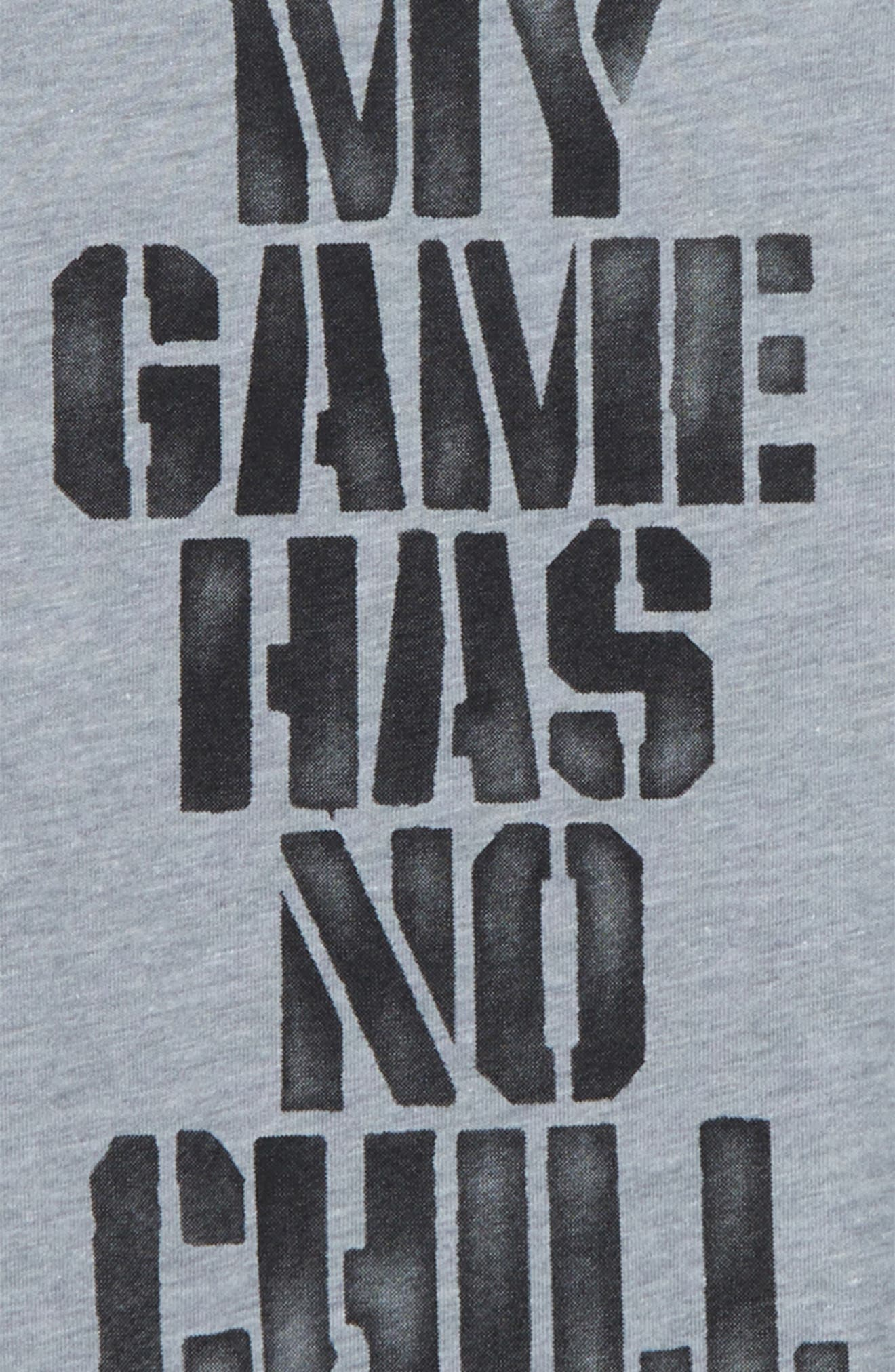 My Game Has No Chill T-Shirt,                             Alternate thumbnail 2, color,                             Dark Grey Heather