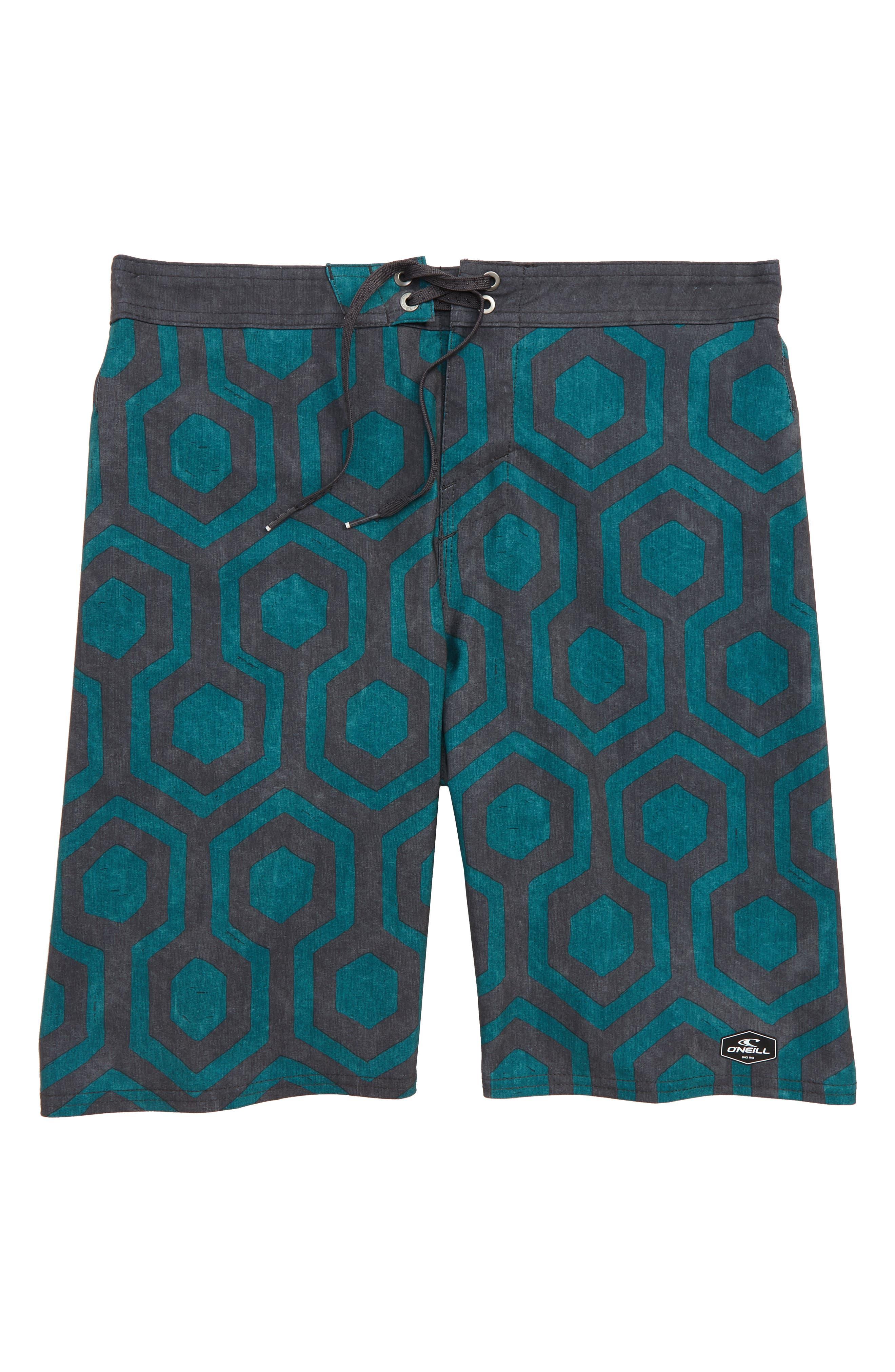Hyperfreak Wrenched Board Shorts,                             Main thumbnail 1, color,                             Asphalt