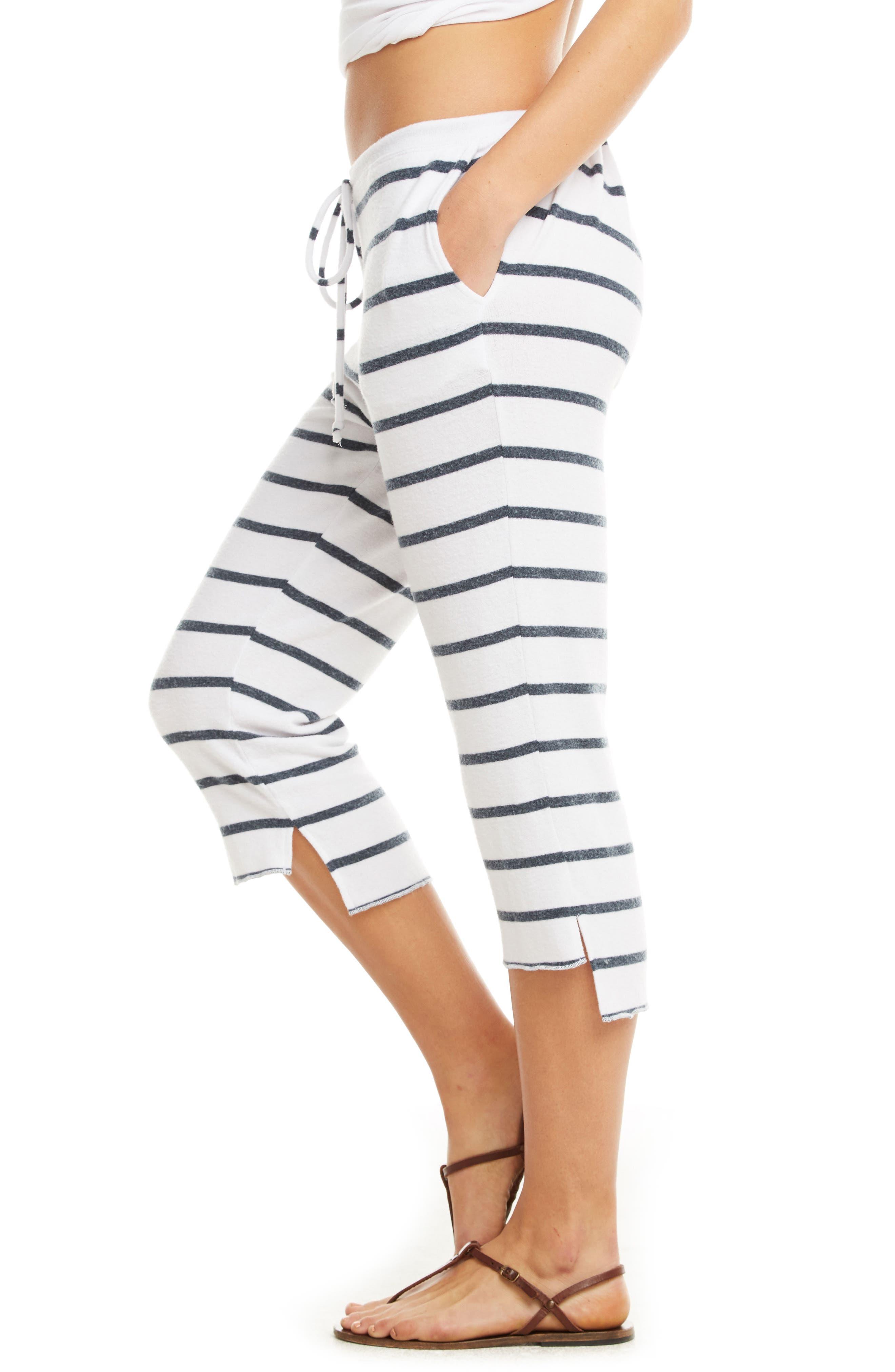 Love Knit Crop Pajama Pants,                             Alternate thumbnail 4, color,                             Stripe