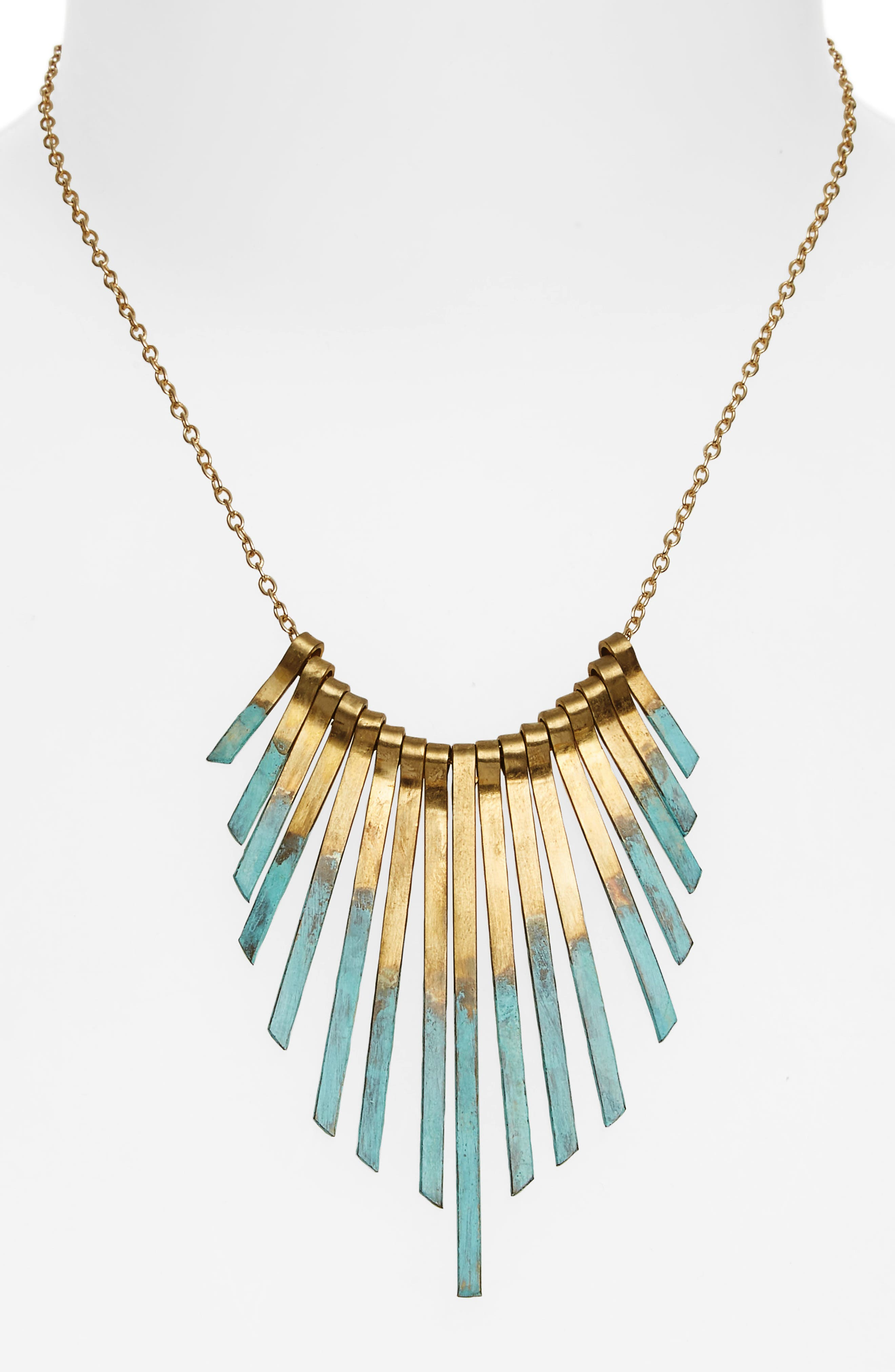 Patina Stick Necklace,                             Alternate thumbnail 2, color,                             Gold/ Multi