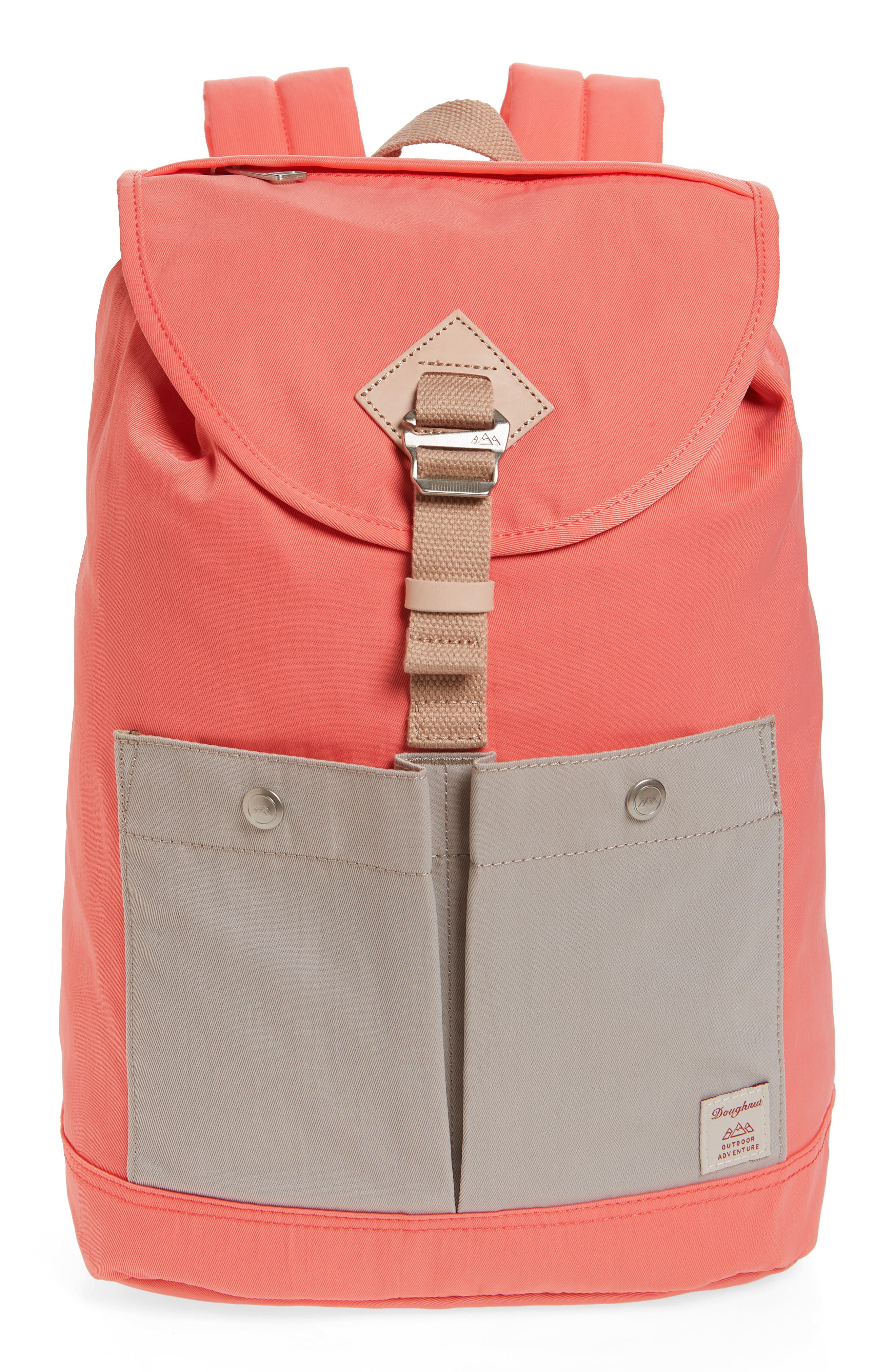 DOUGHNUT Montana Water Repellent Backpack - Pink in Peach/ Ivory