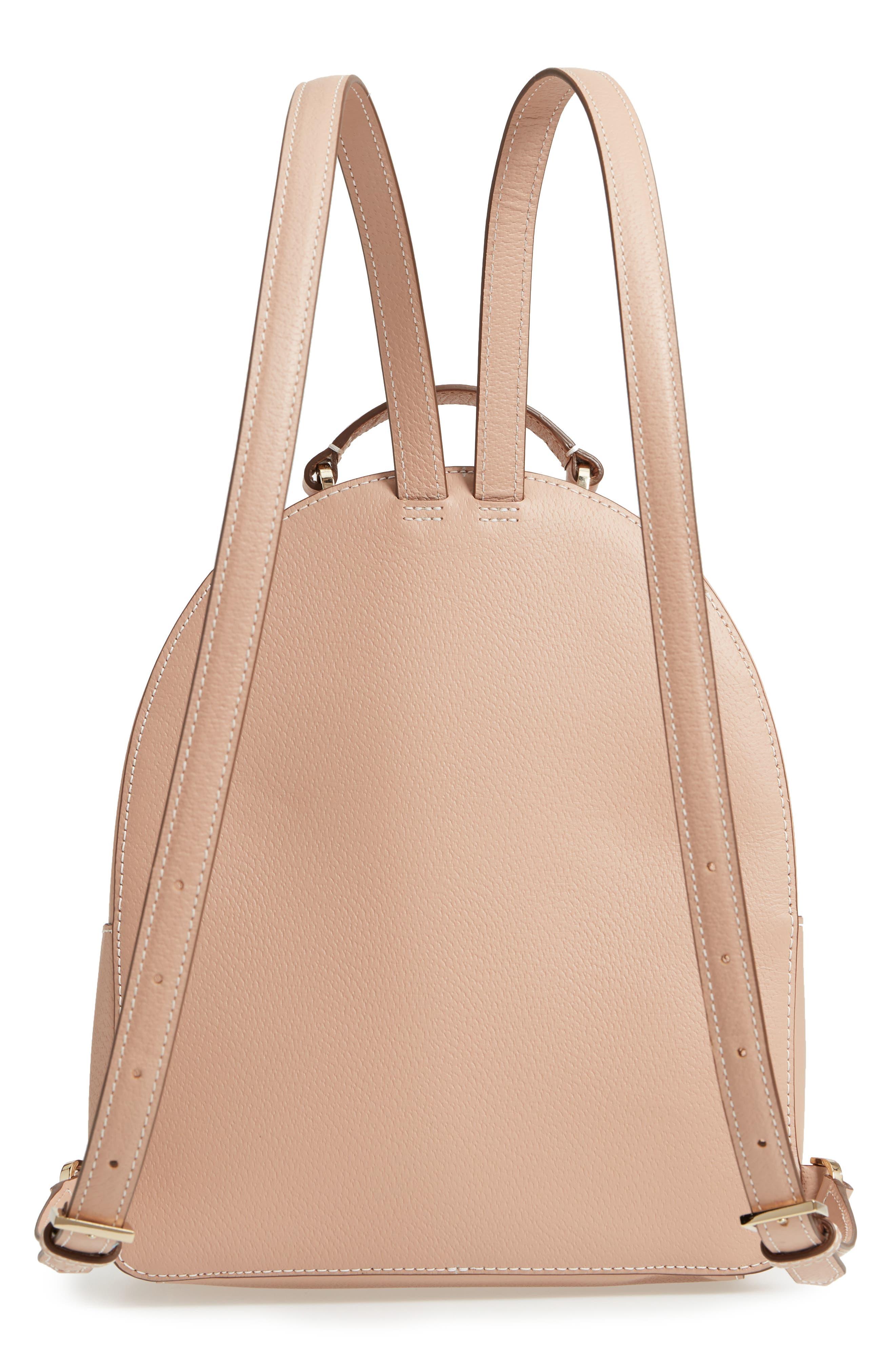 thompson street - brooke leather backpack,                             Alternate thumbnail 5, color,                             Ginger Tea