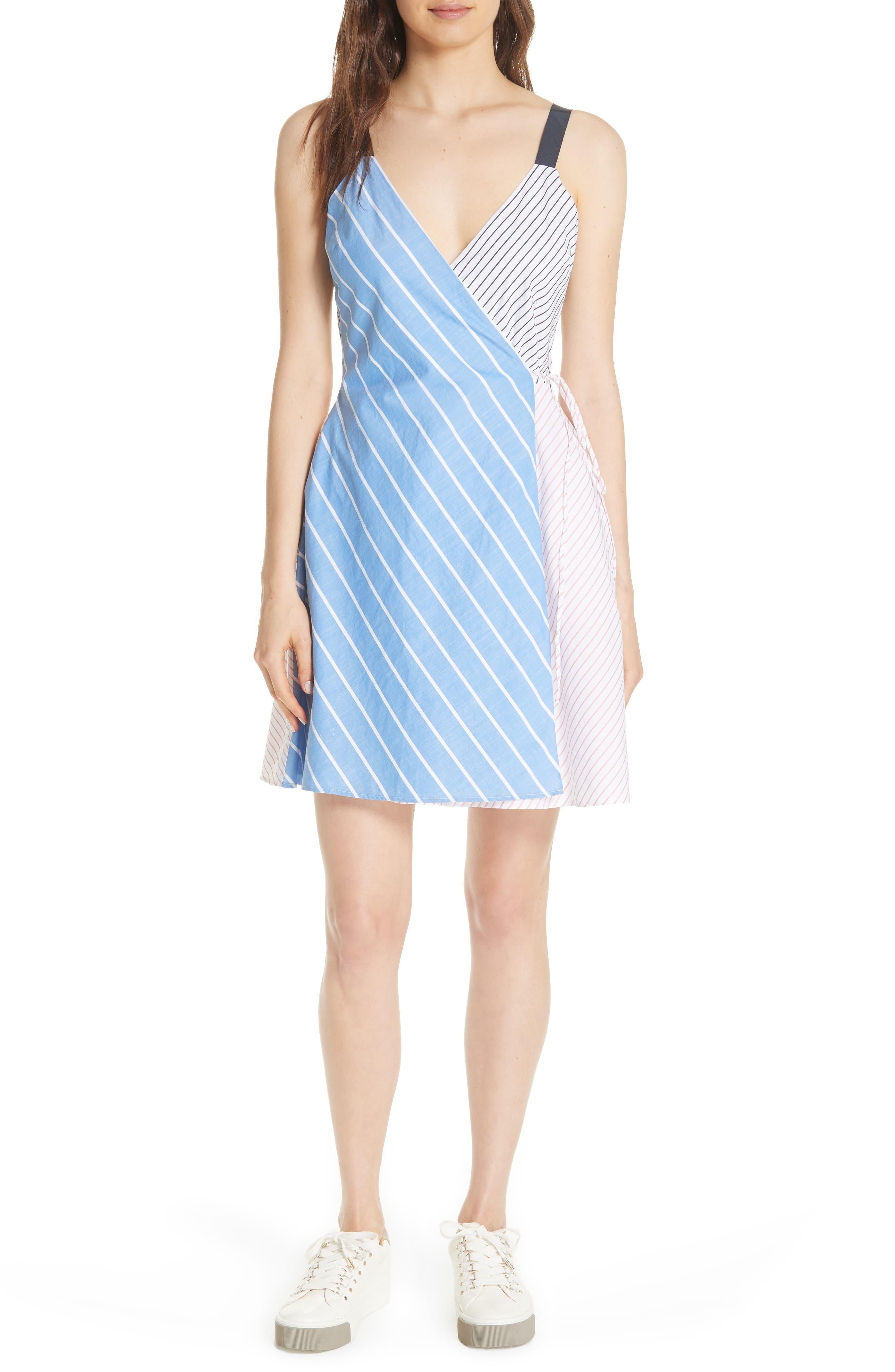 Editha Wrap Style Sundress,                         Main,                         color, Multi