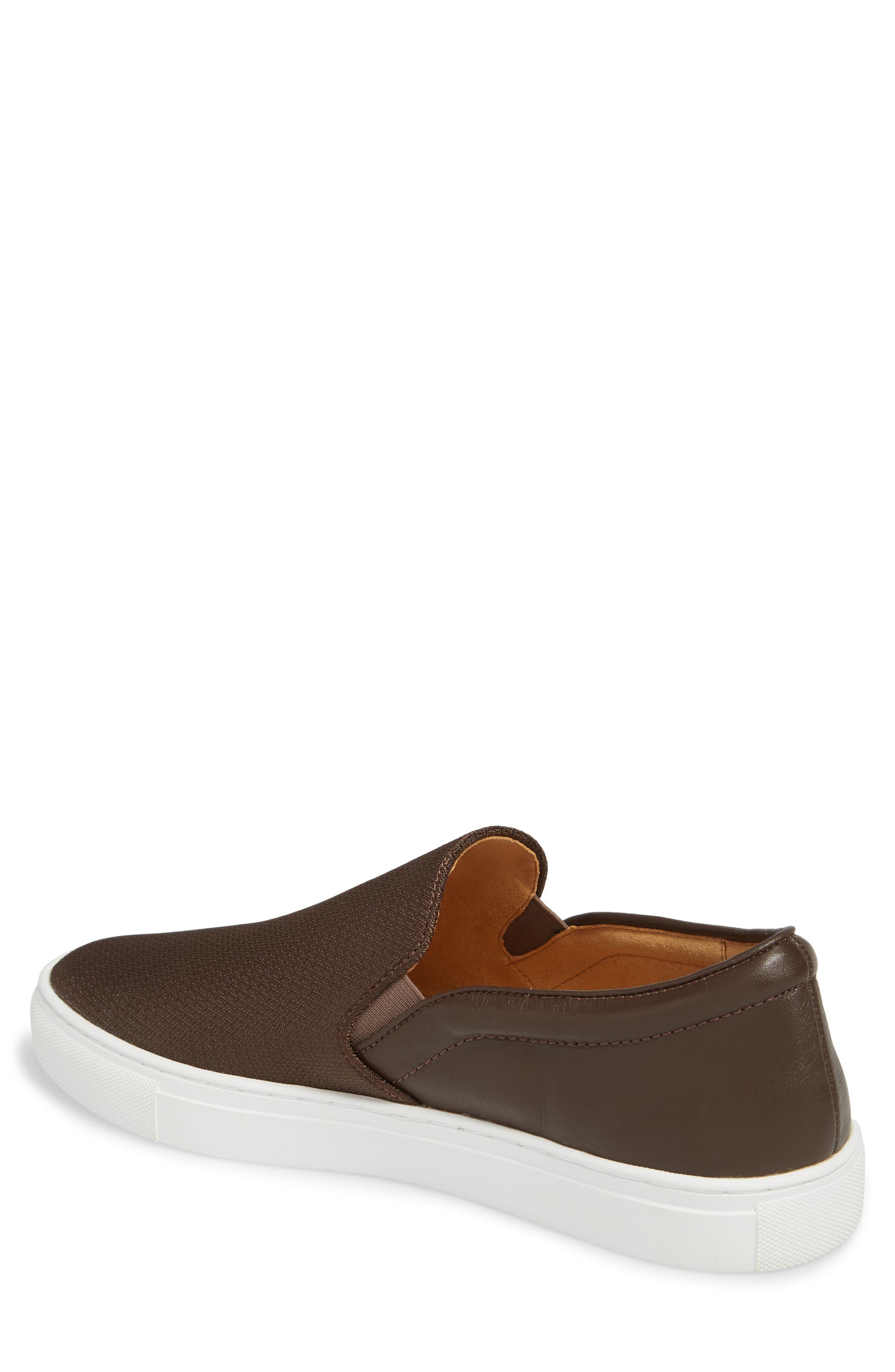 Albin Raffia Slip-On Sneaker,                             Alternate thumbnail 2, color,                             Espresso
