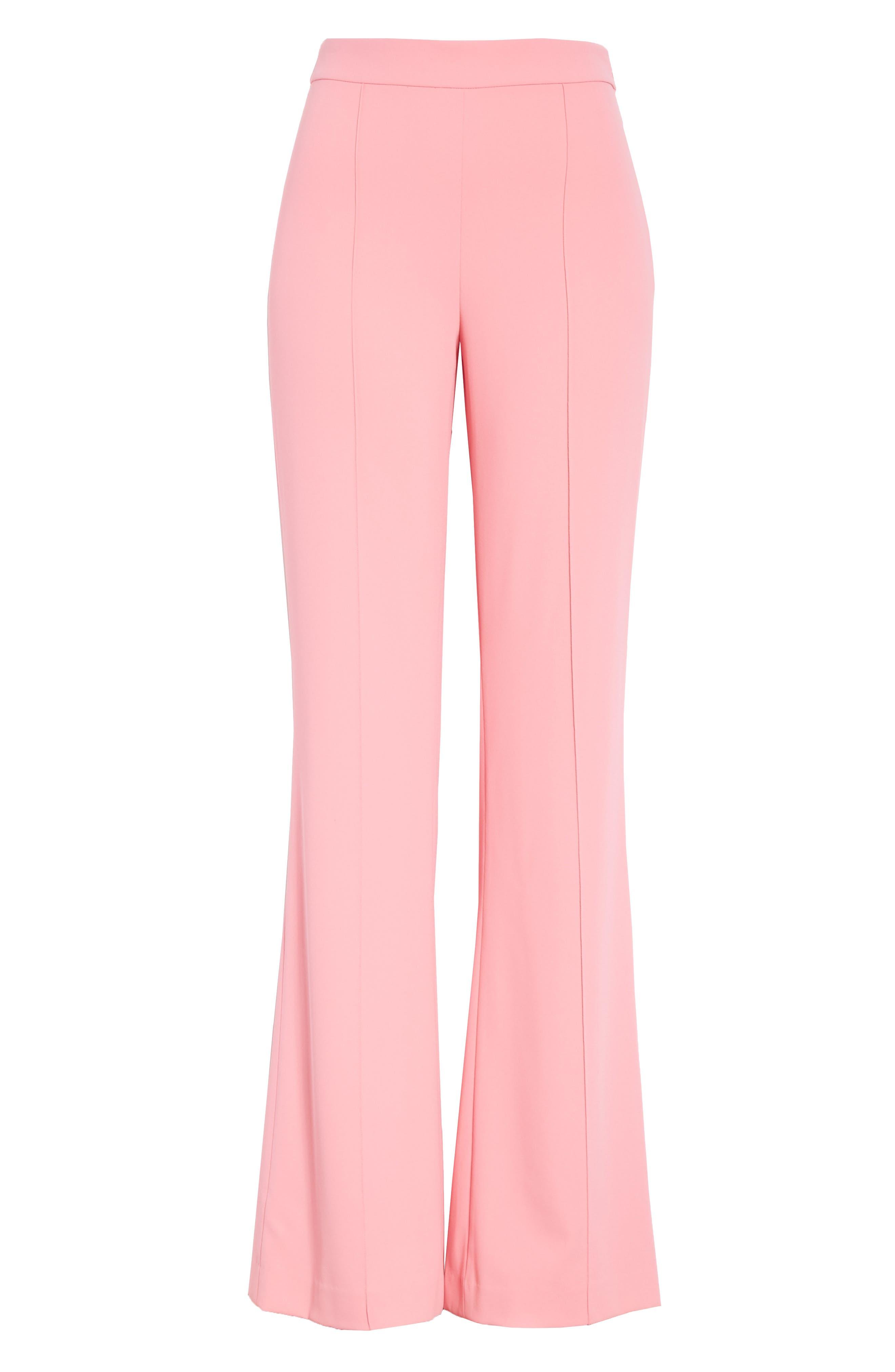Jalisa High Waist Flare Pants,                             Alternate thumbnail 6, color,                             Bubblegum