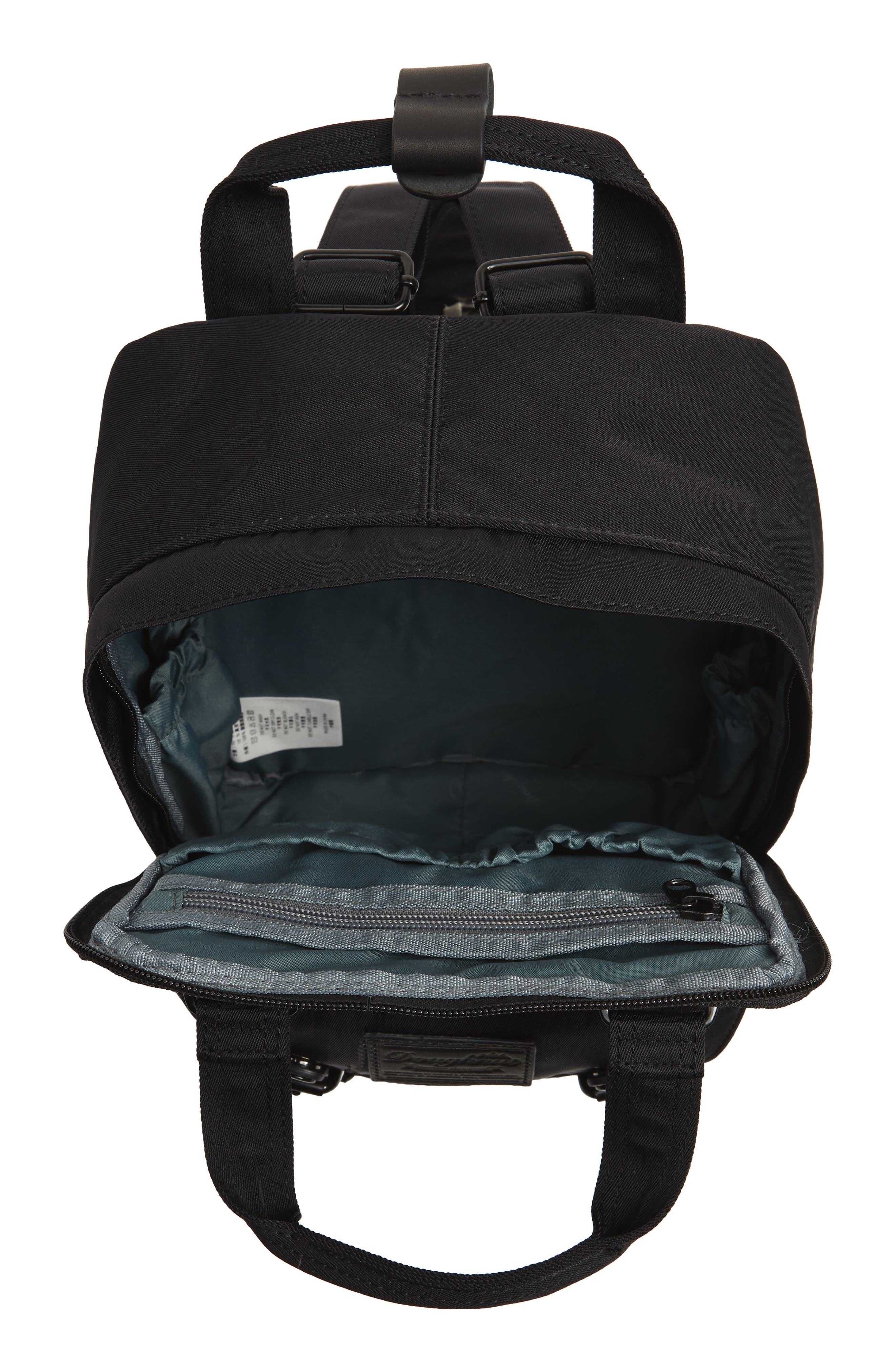 Mini Macaroon Black Series Water Resistant Backpack,                             Alternate thumbnail 6, color,                             Black