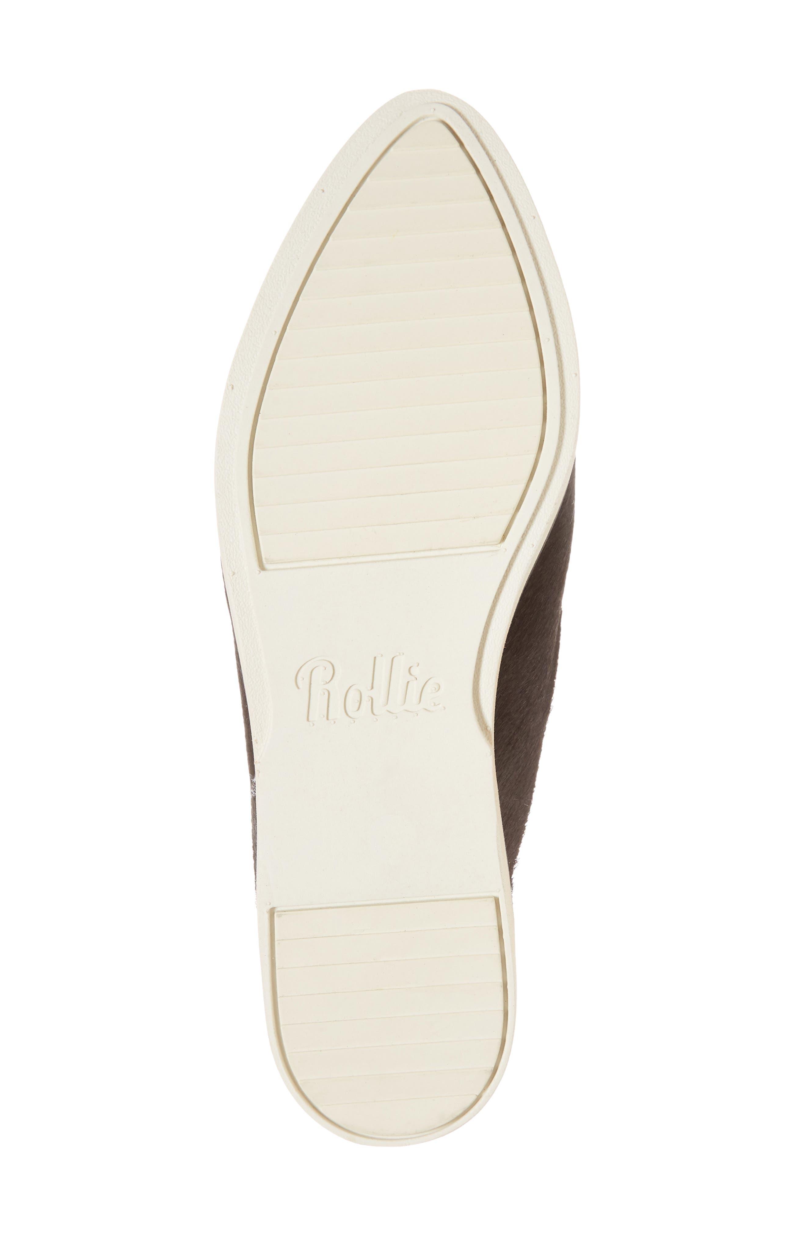Madison Studded Genuine Calf Hair Loafer Mule,                             Alternate thumbnail 6, color,                             Black Calf Hair