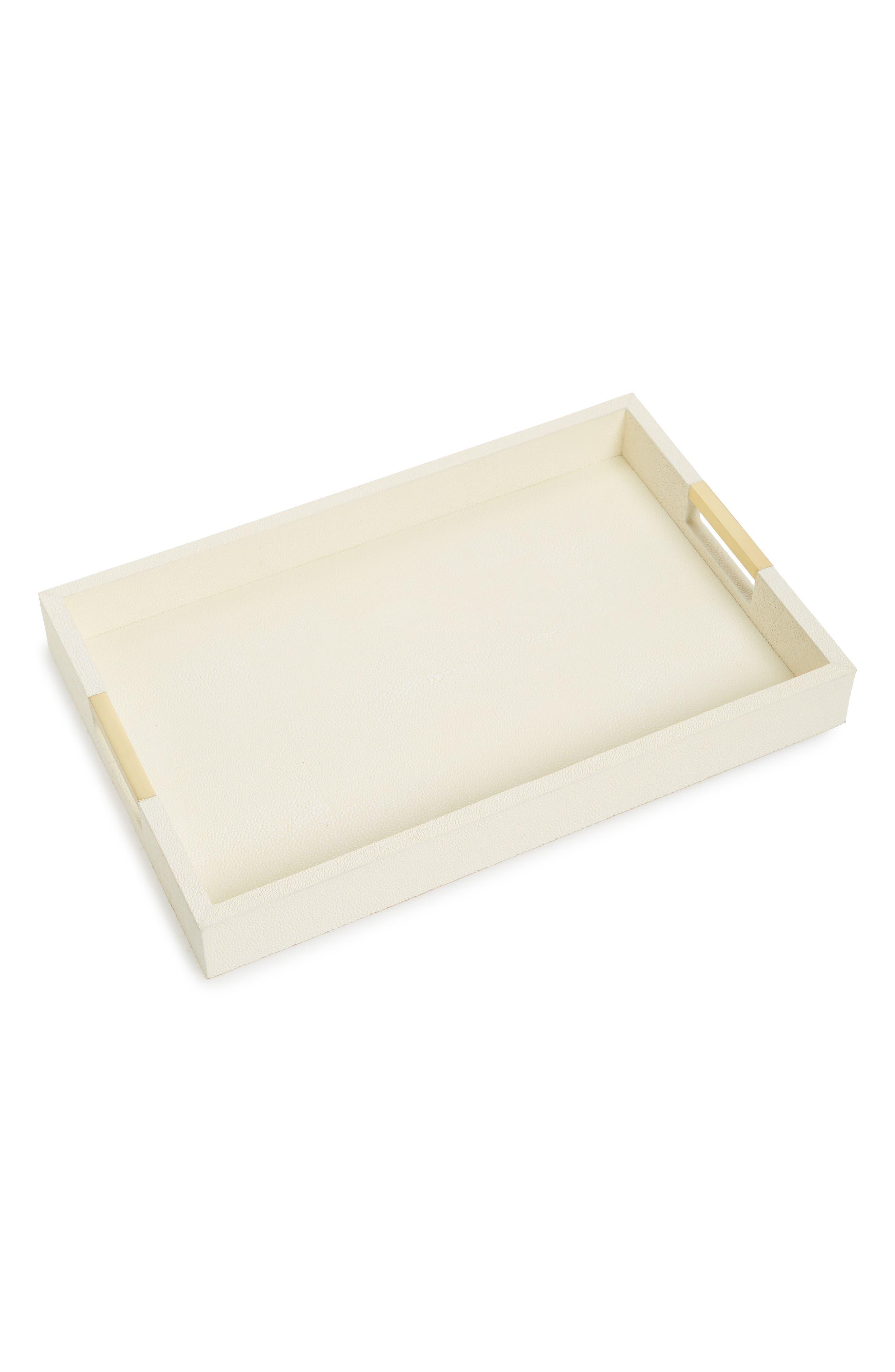 Modern Shagreen Desk Tray,                             Main thumbnail 1, color,                             Ivory Cream