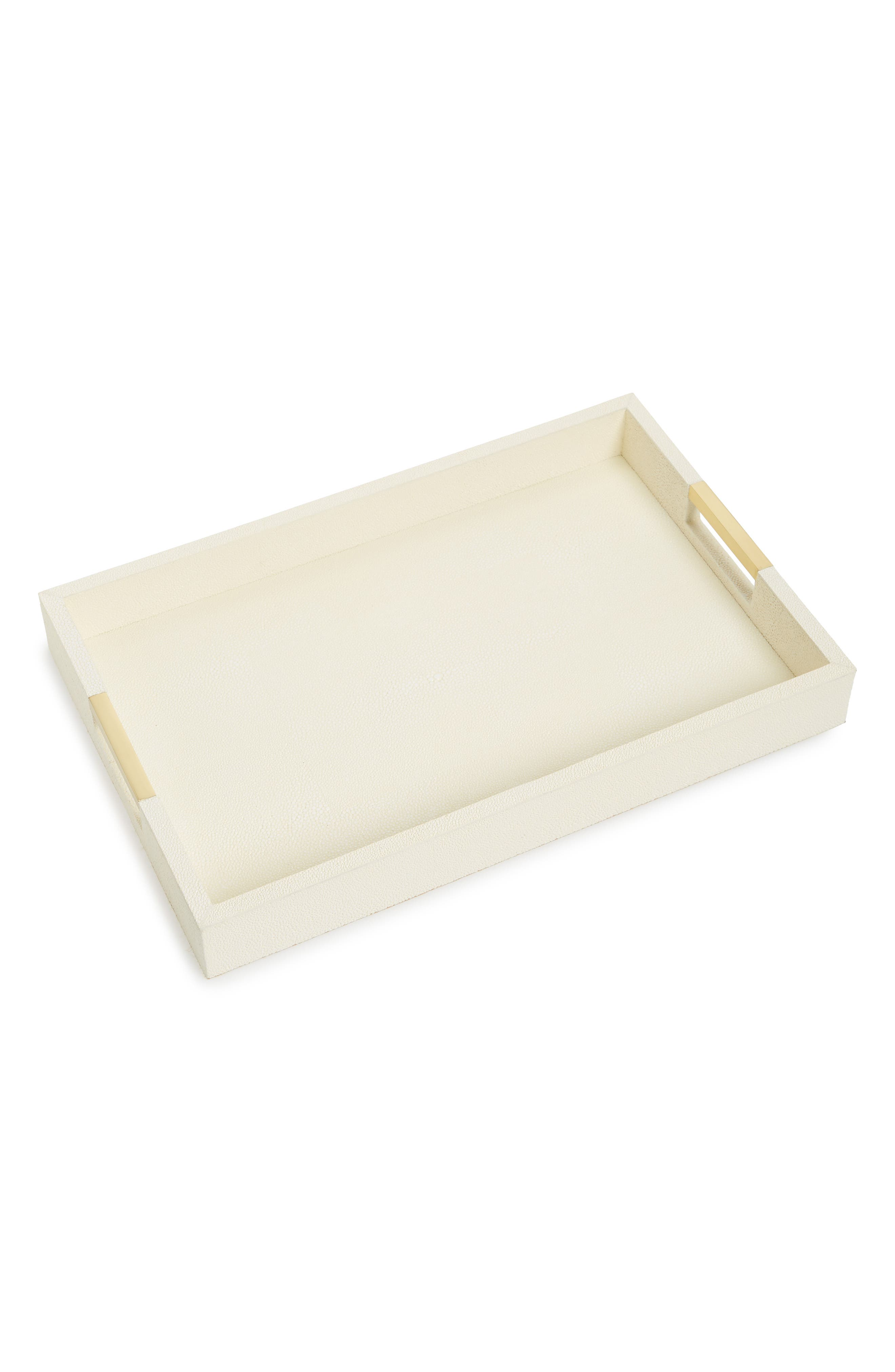Modern Shagreen Desk Tray,                         Main,                         color, Ivory Cream