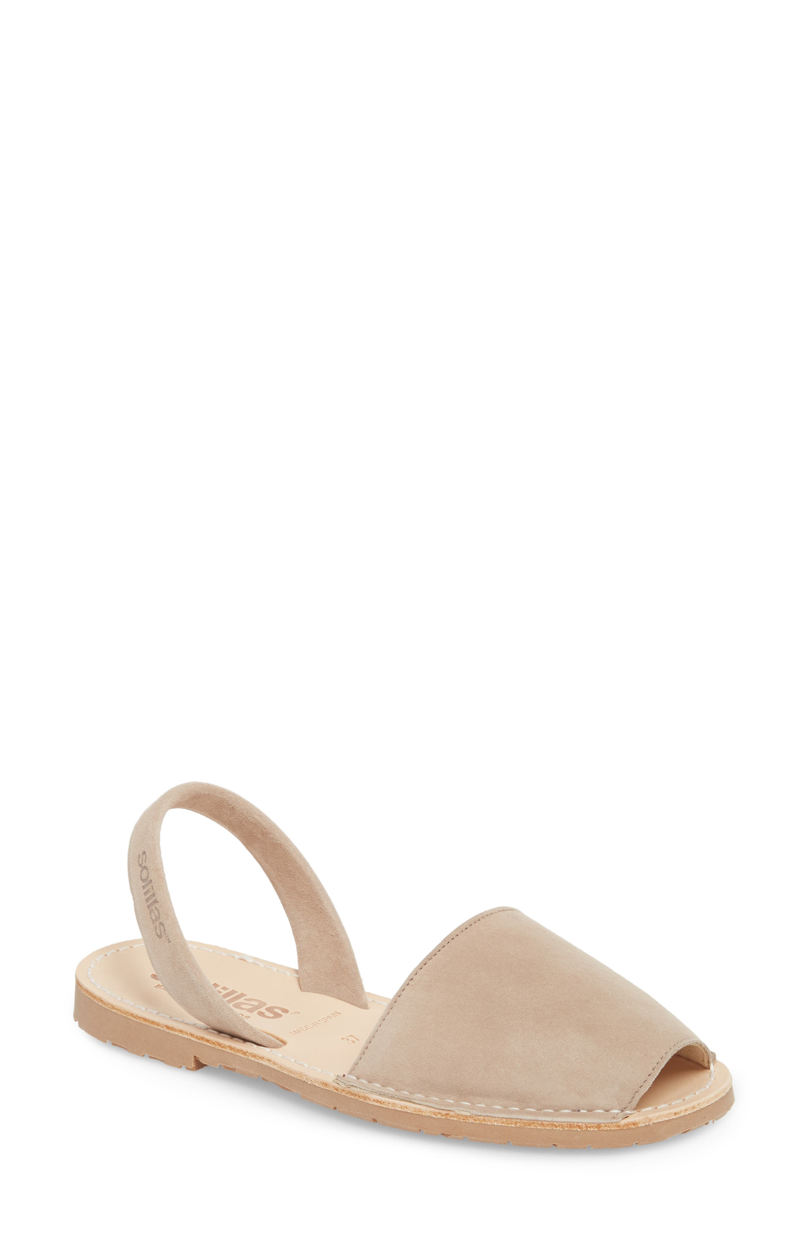 Flat Sandal,                         Main,                         color, Taupe