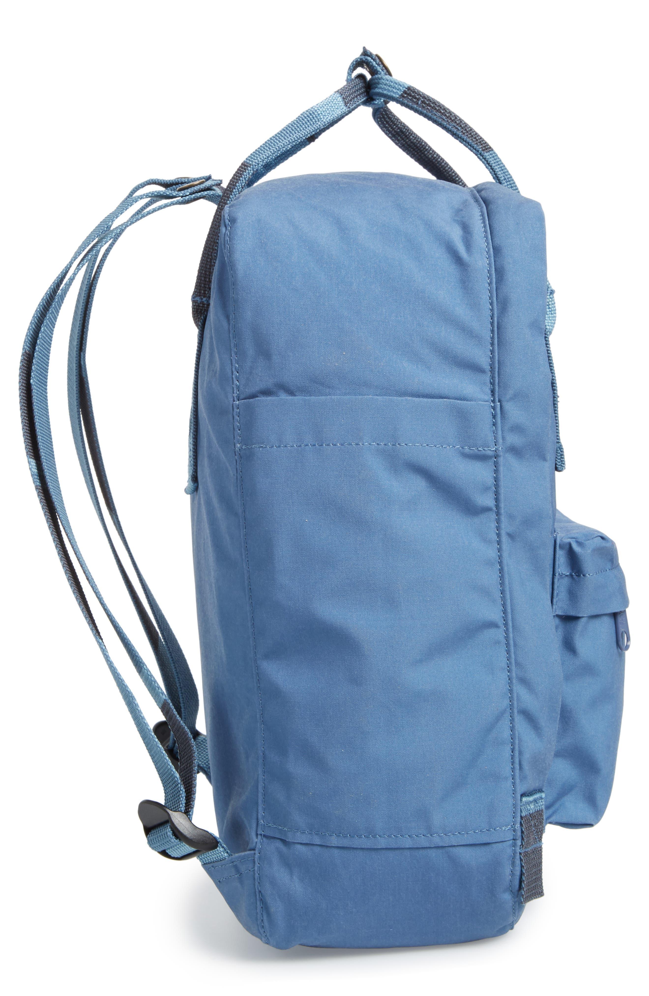 'Kånken' Water Resistant Backpack,                             Alternate thumbnail 5, color,                             Blue Ridge/ Random Blocked