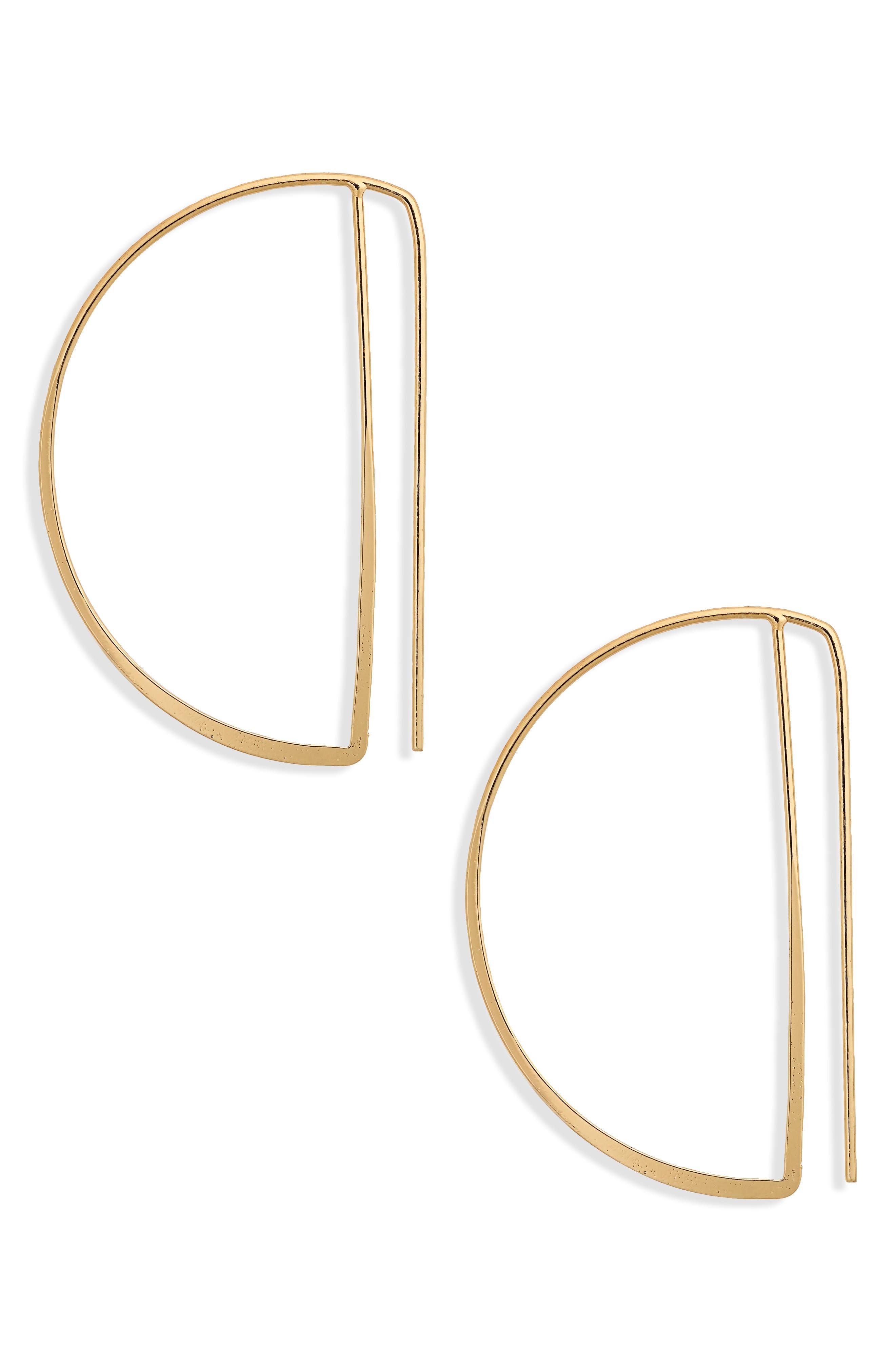 Geo Half Hoop Earrings,                         Main,                         color, Gold