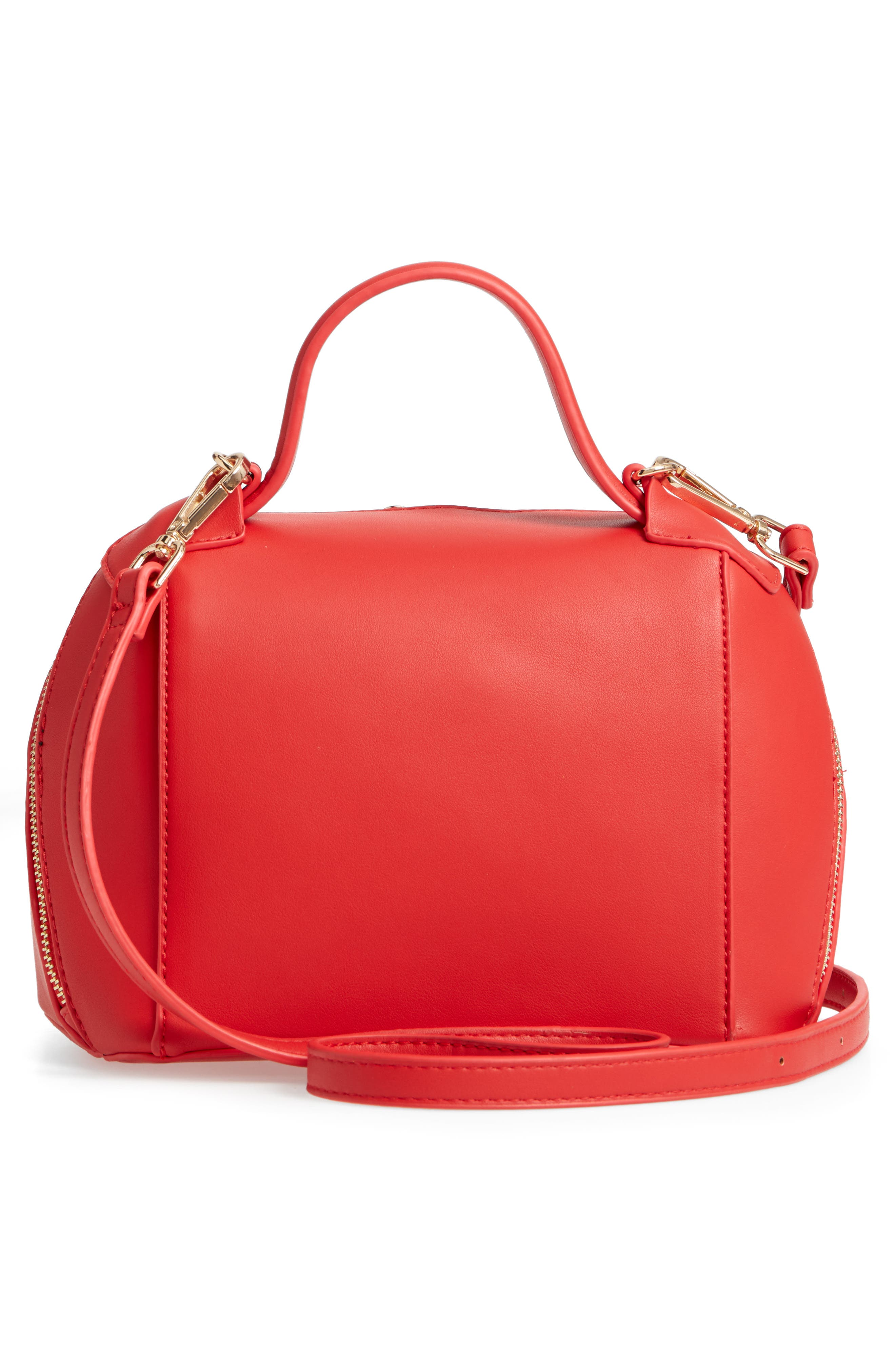 Top Handle Crossbody Bag,                             Alternate thumbnail 3, color,                             Red