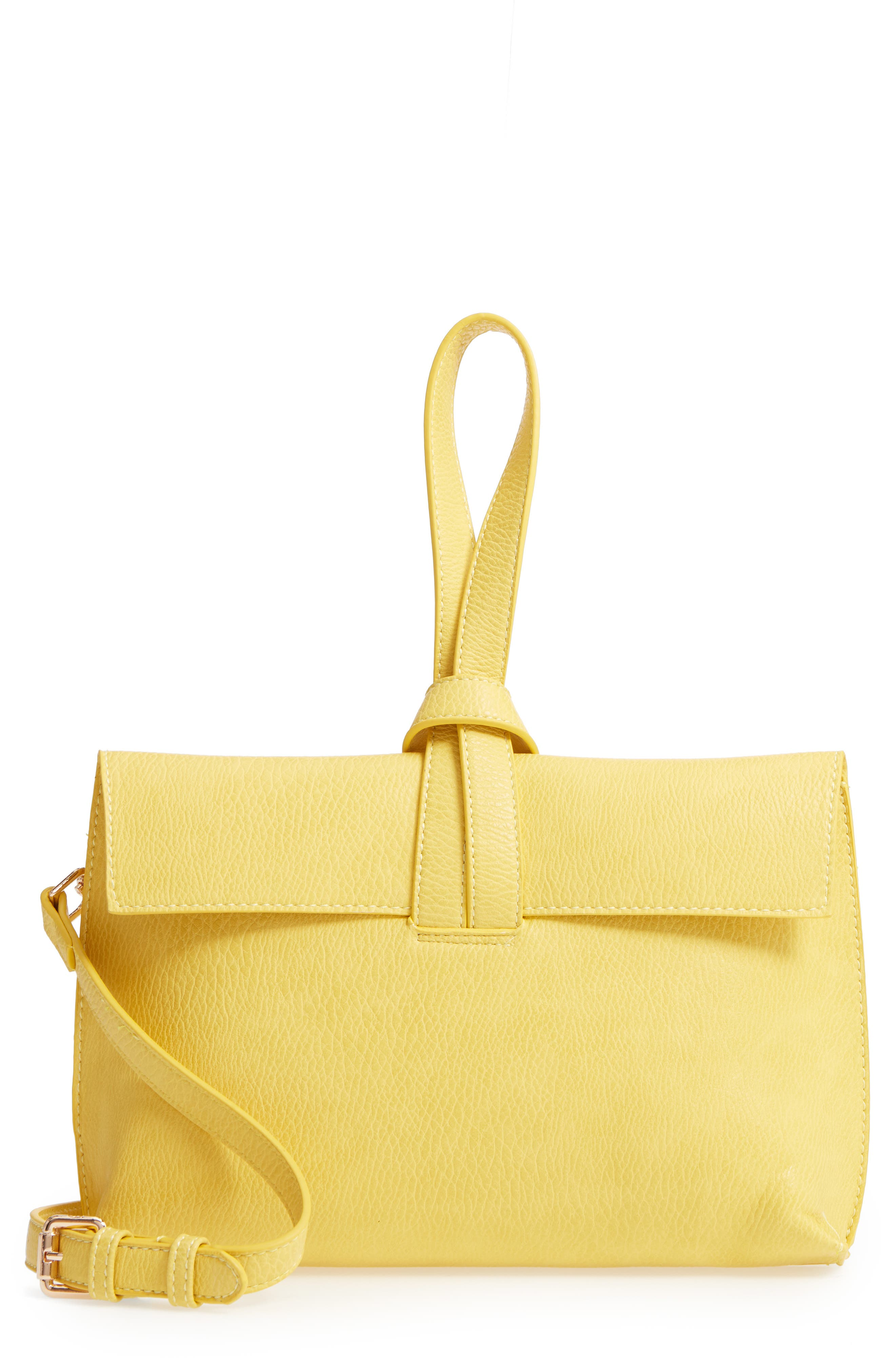 Pull Through Wristlet/Crossbody Bag,                         Main,                         color, Yellow